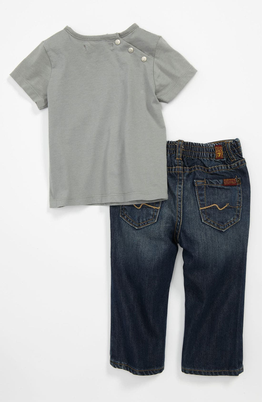 Alternate Image 2  - 7 For All Mankind® 'Photo Real' T-Shirt & Jeans (Infant)