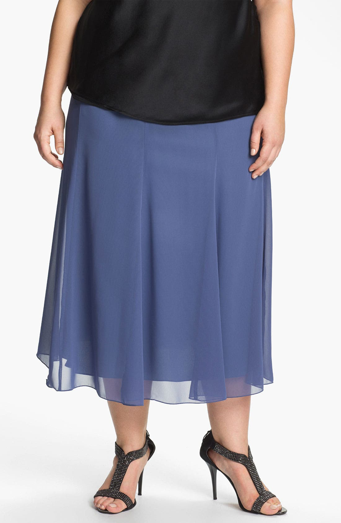 Alternate Image 1 Selected - Alex Evenings Chiffon Skirt (Plus Size)