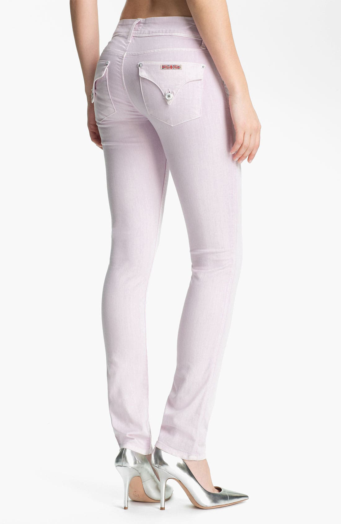 Alternate Image 2  - Hudson Jeans Skinny Stretch Jeans (Lilac)