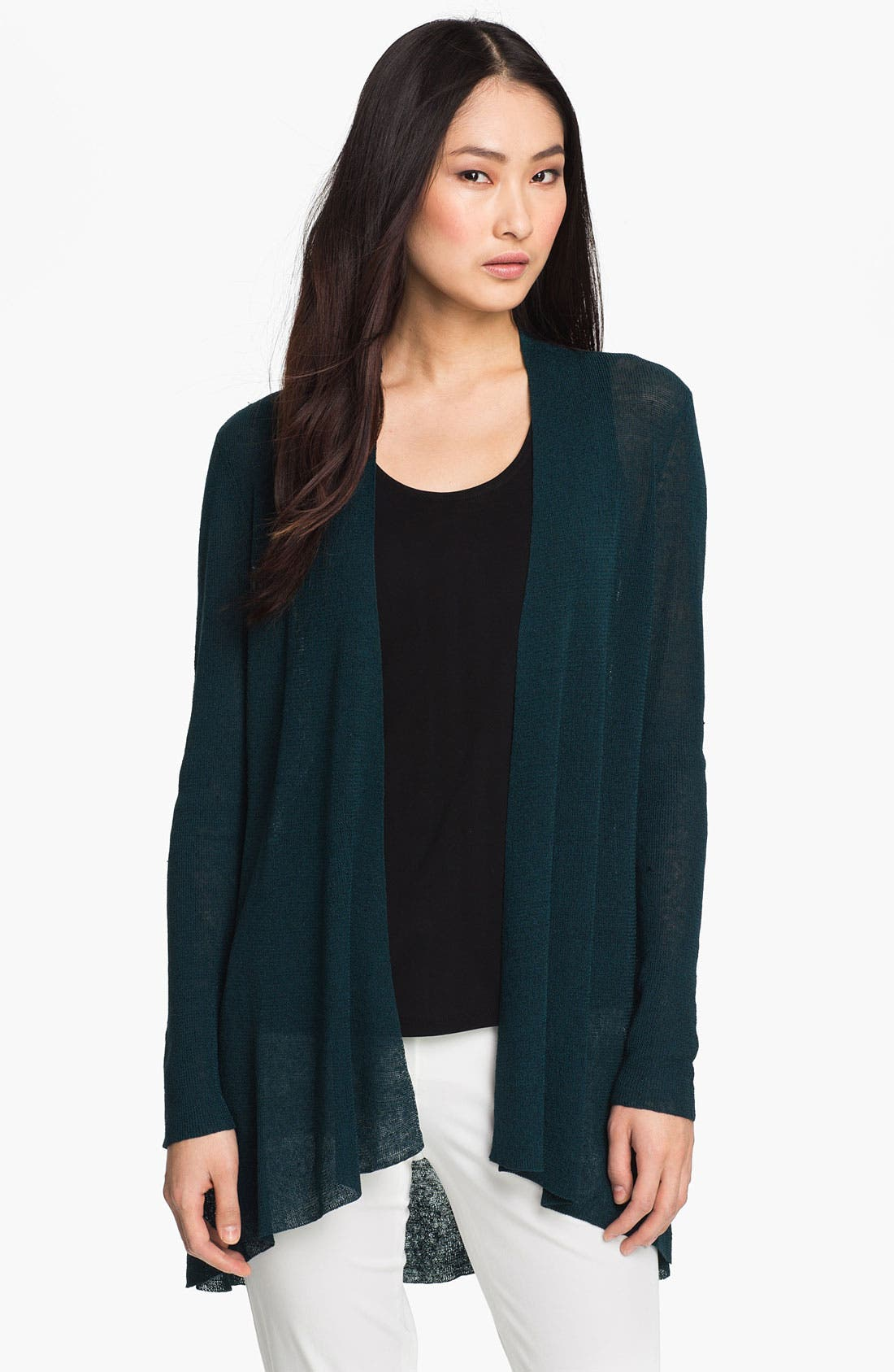Main Image - Eileen Fisher Flutter Cardigan (Online Exclusive)