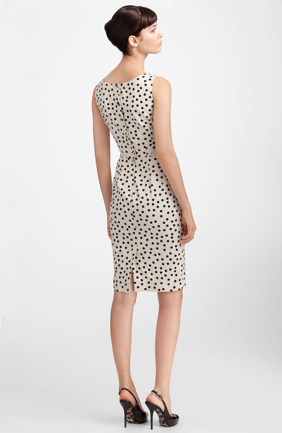 Alternate Image 2  - Dolce&Gabbana Polka Dot Stretch Cotton Dress