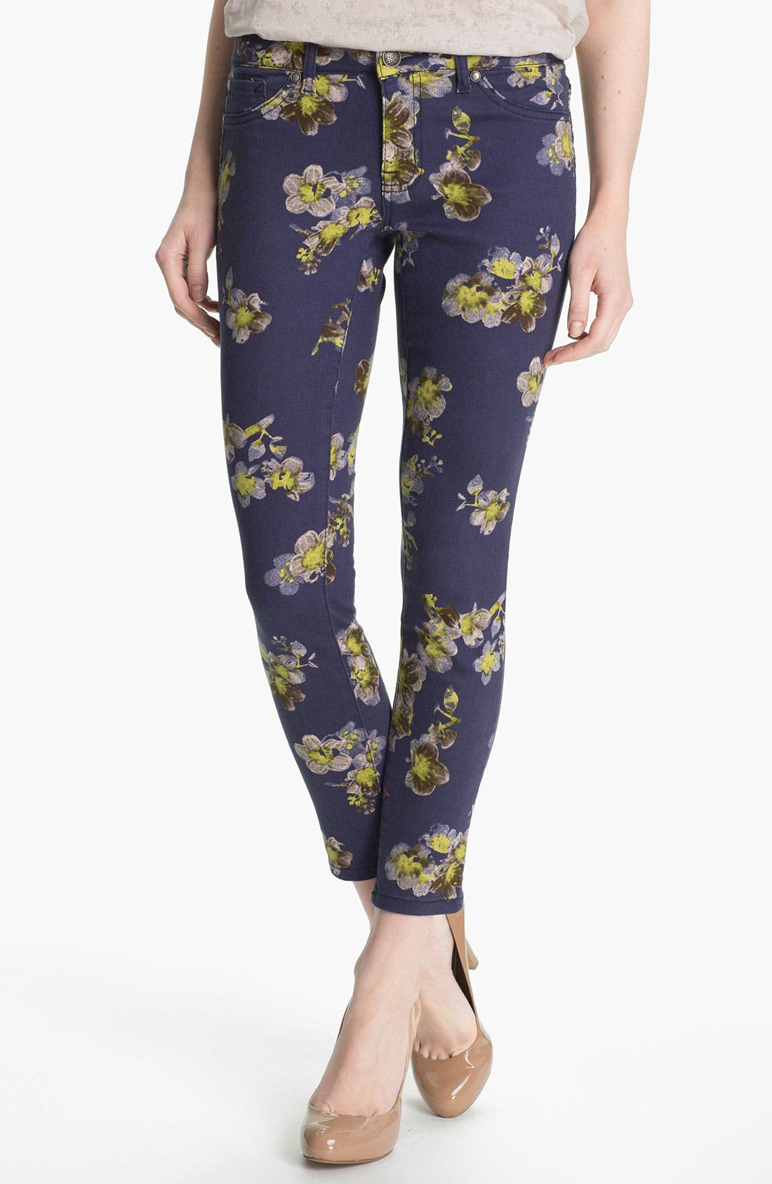 Alternate Image 1 Selected - Jessica Simpson Print Ankle Pants (Online Exclusive)