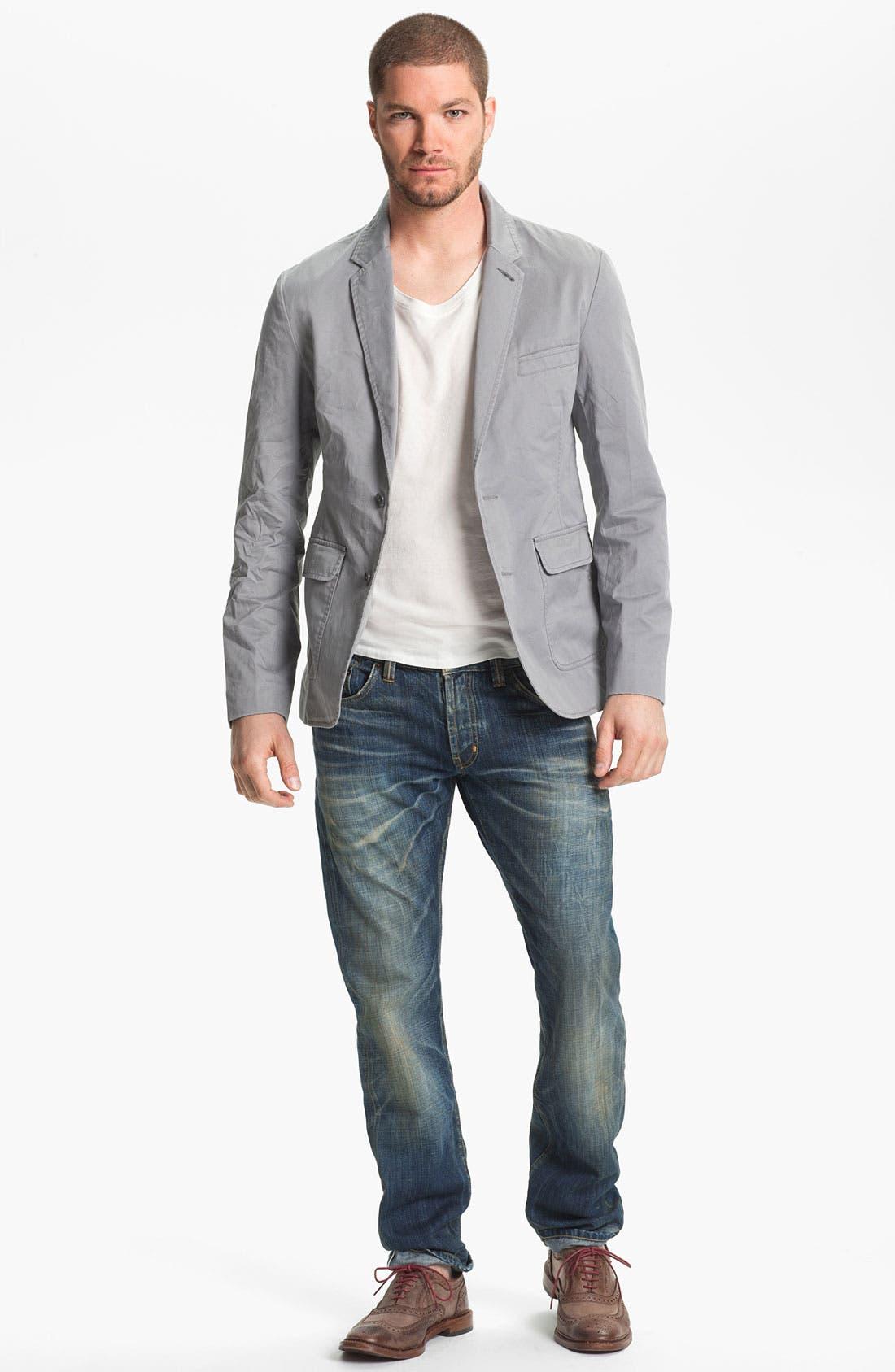 Alternate Image 5  - Natural Selection Denim 'Broken' Narrow Straight Leg Selvedge Jeans (Dune)