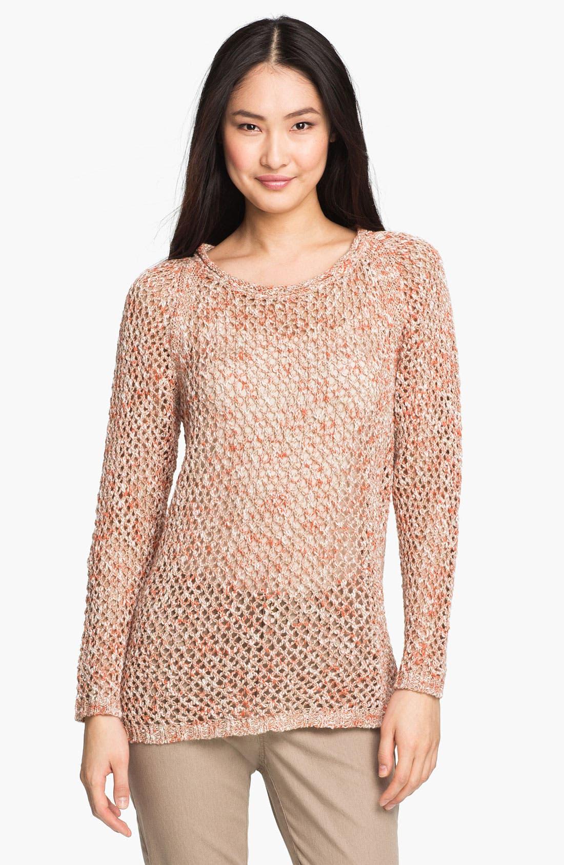 Main Image - Lafayette 148 New York Open Stitch Sweater