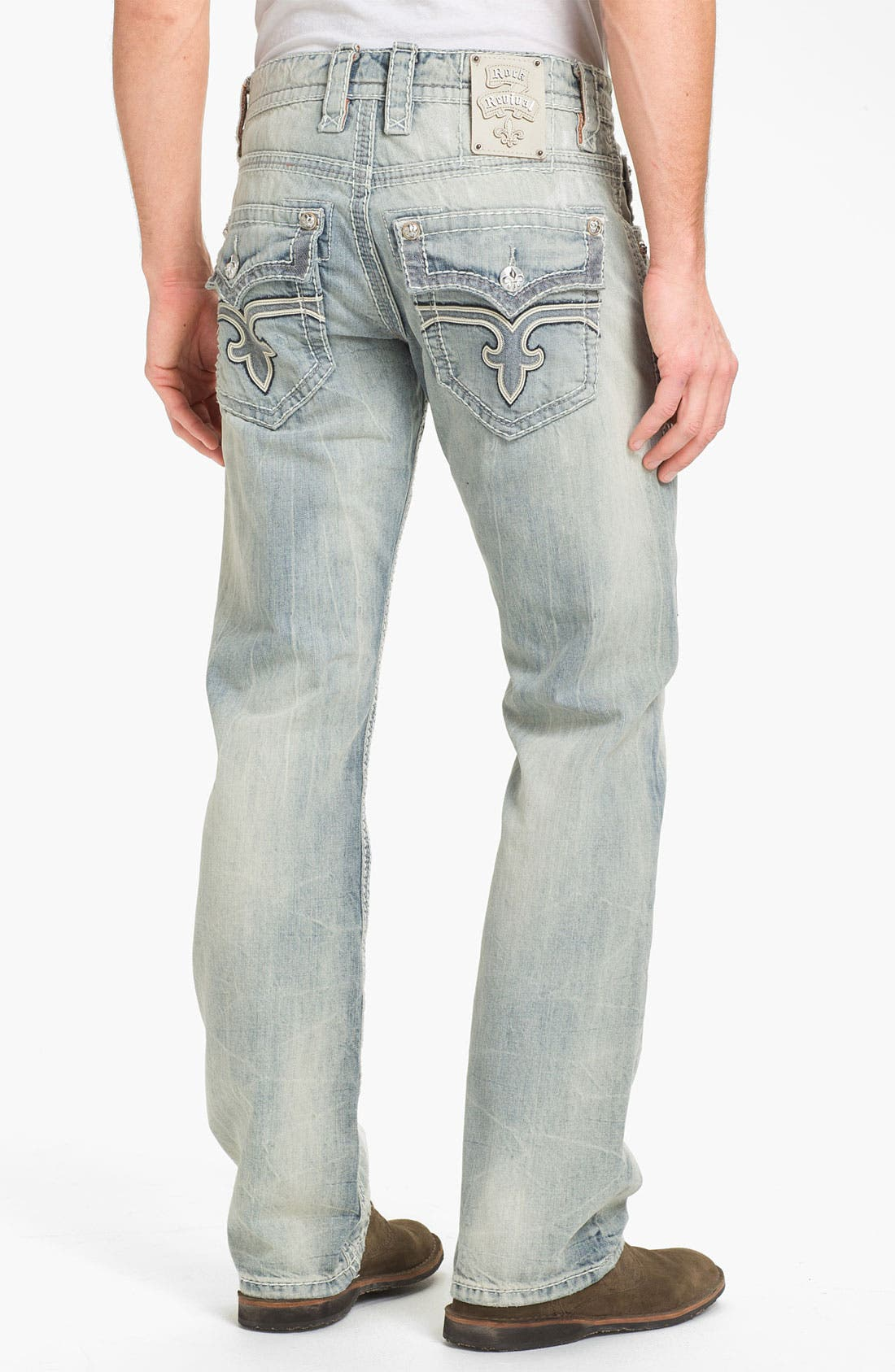 Alternate Image 1 Selected - Rock Revival 'Rocky T' Straight Leg Jeans (Light Blue)