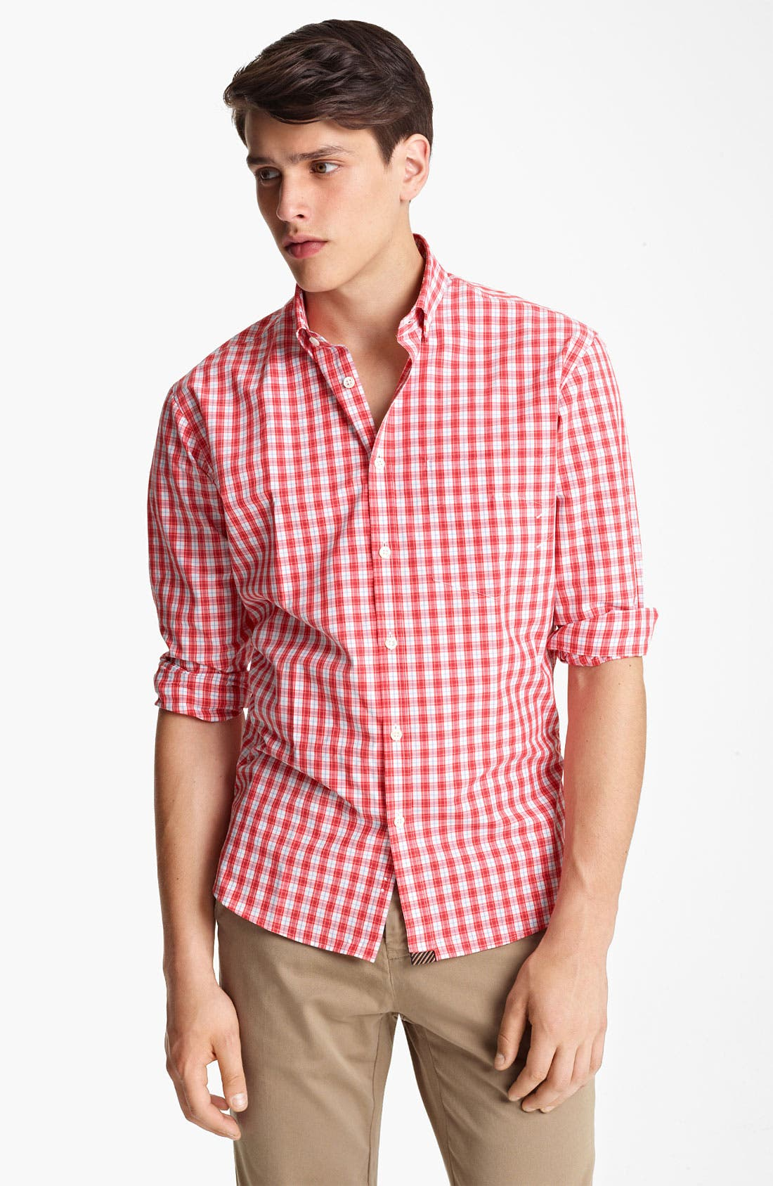 Main Image - Billy Reid 'Neilan' Check Woven Shirt