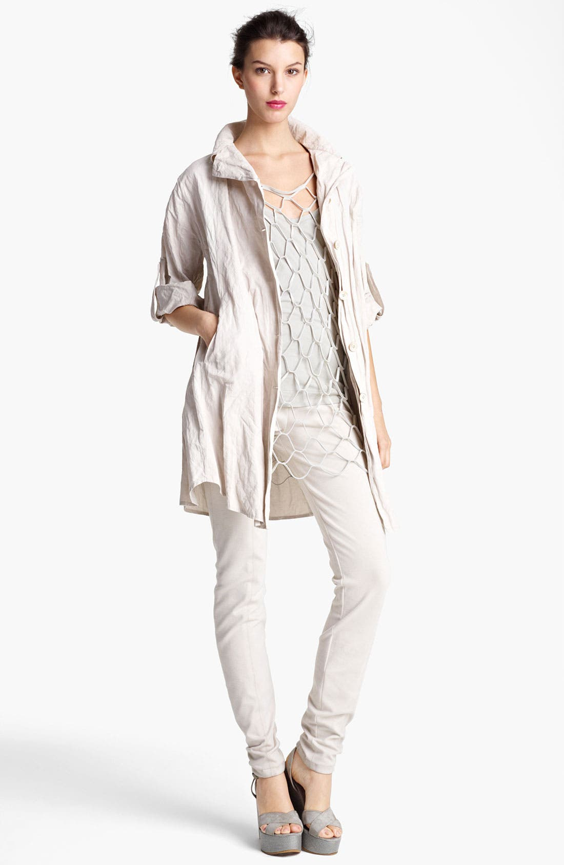 Main Image - Donna Karan Collection Tunic, Net Tank & Leggings