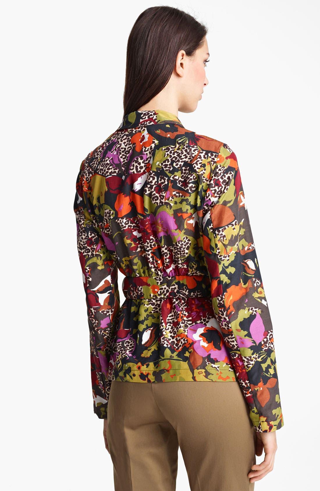 Alternate Image 2  - Max Mara Belted Floral Print Jacket