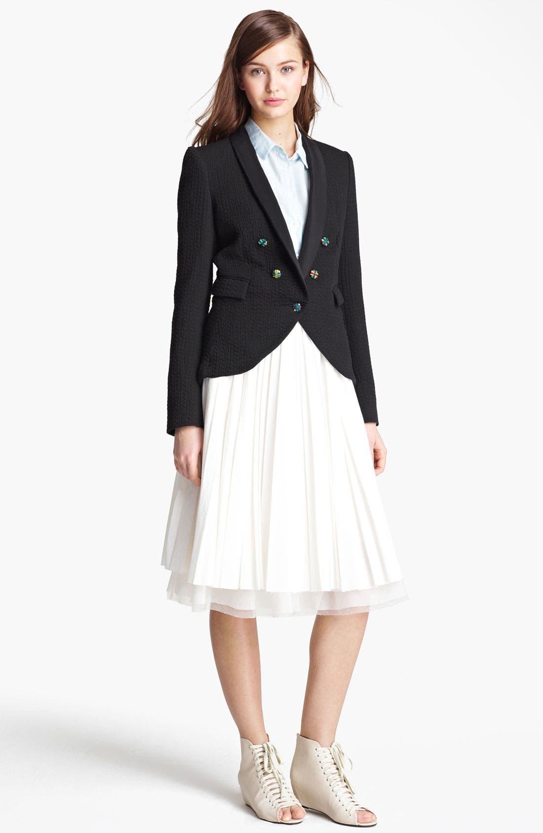 Alternate Image 2  - Band of Outsiders Pleated Skirt