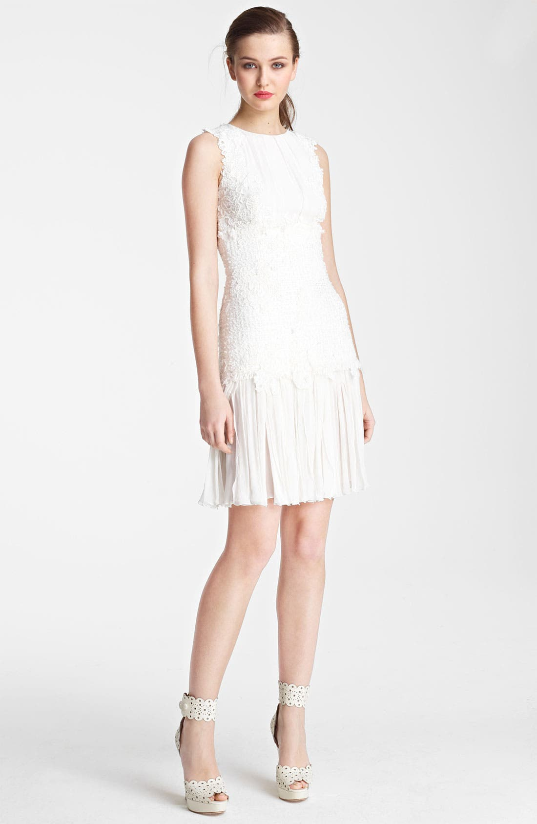 Alternate Image 1 Selected - Oscar de la Renta Chiffon Dress