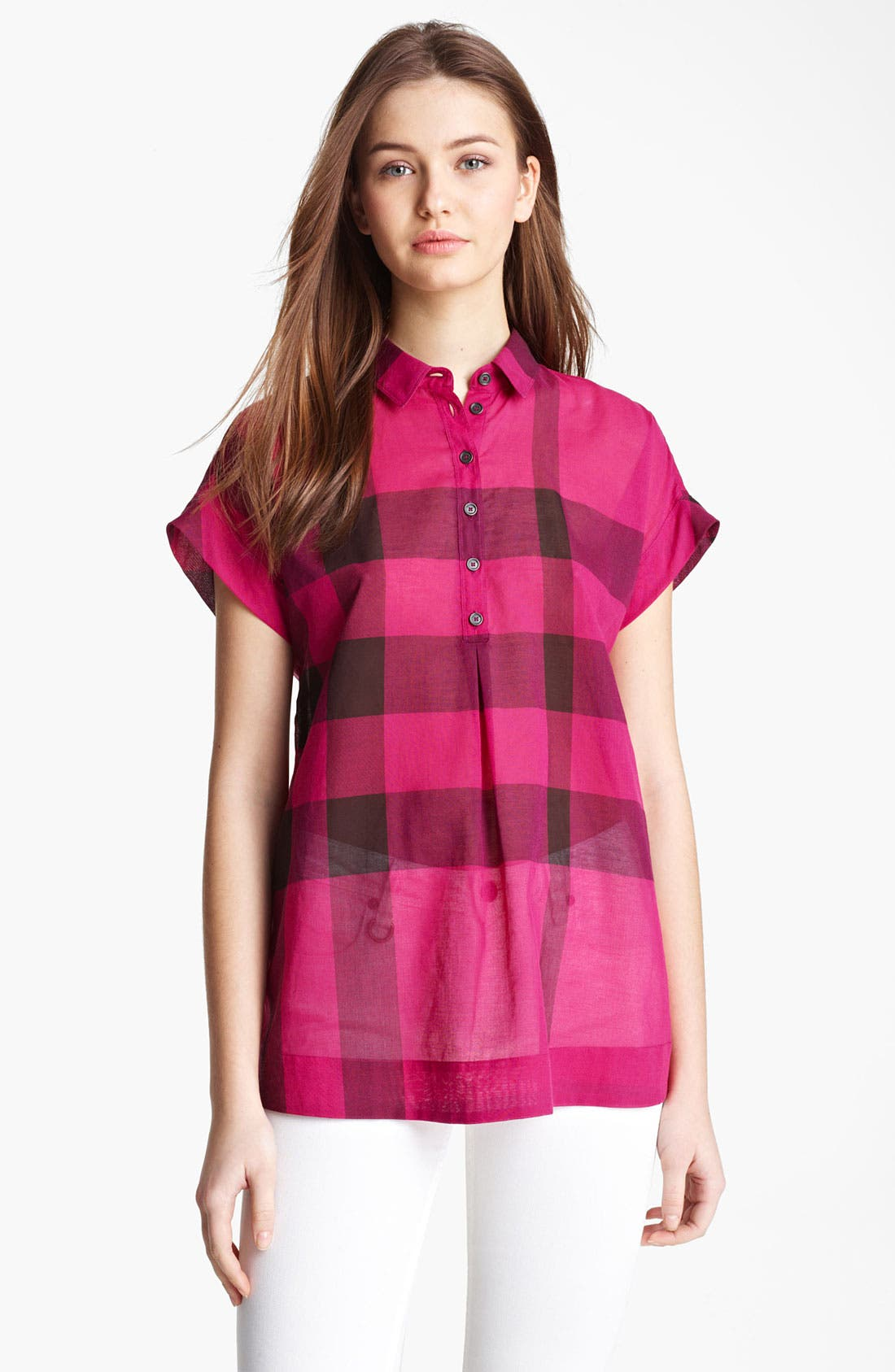 Alternate Image 1 Selected - Burberry Brit Check Tunic Shirt