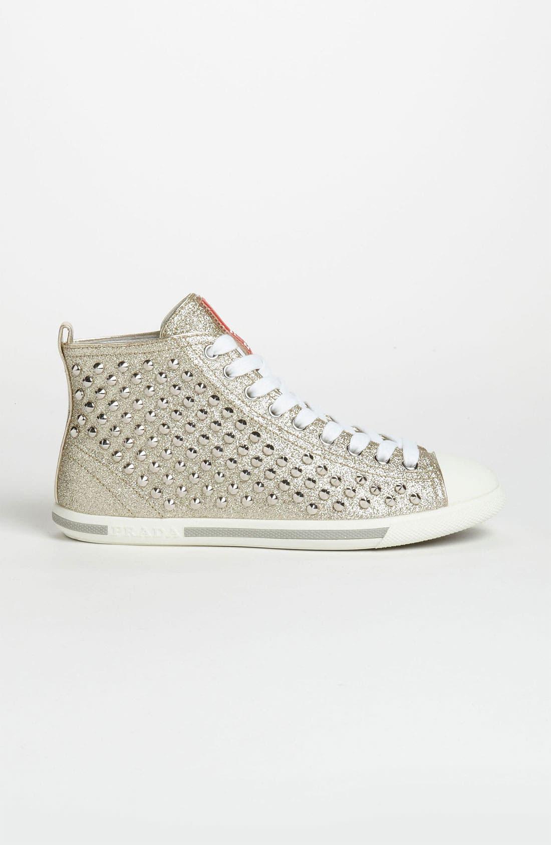 Alternate Image 4  - Prada High Top Sneaker