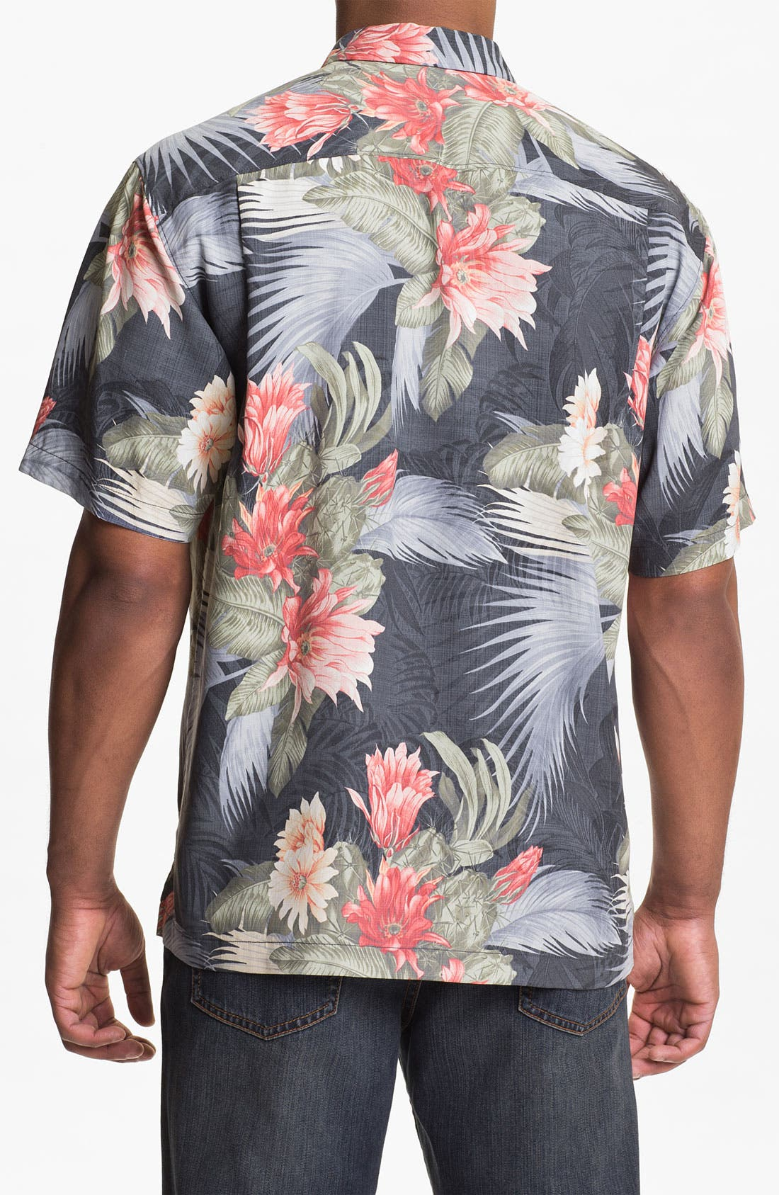 Alternate Image 2  - Tommy Bahama 'Garden of Hope & Courage' Silk Campshirt