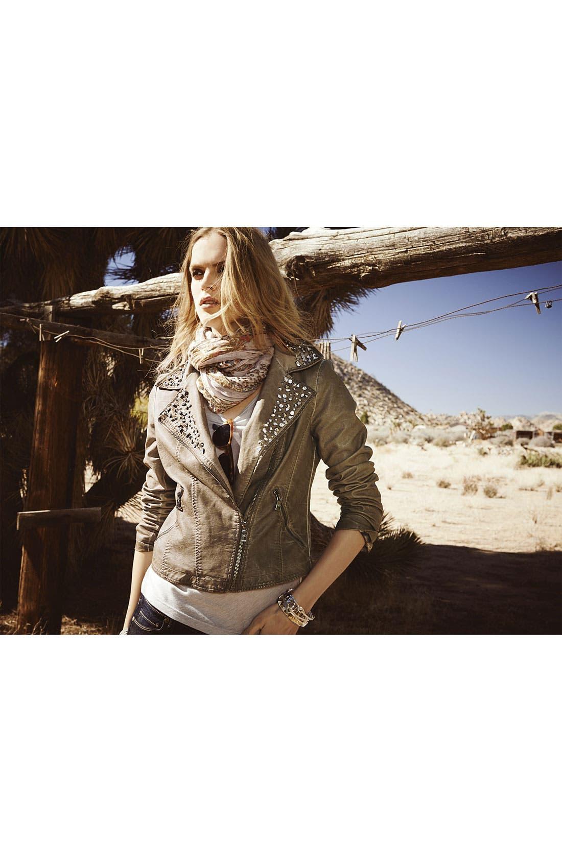 Alternate Image 4  - Sam Edelman Cutaway Back Studded Faux Leather Jacket