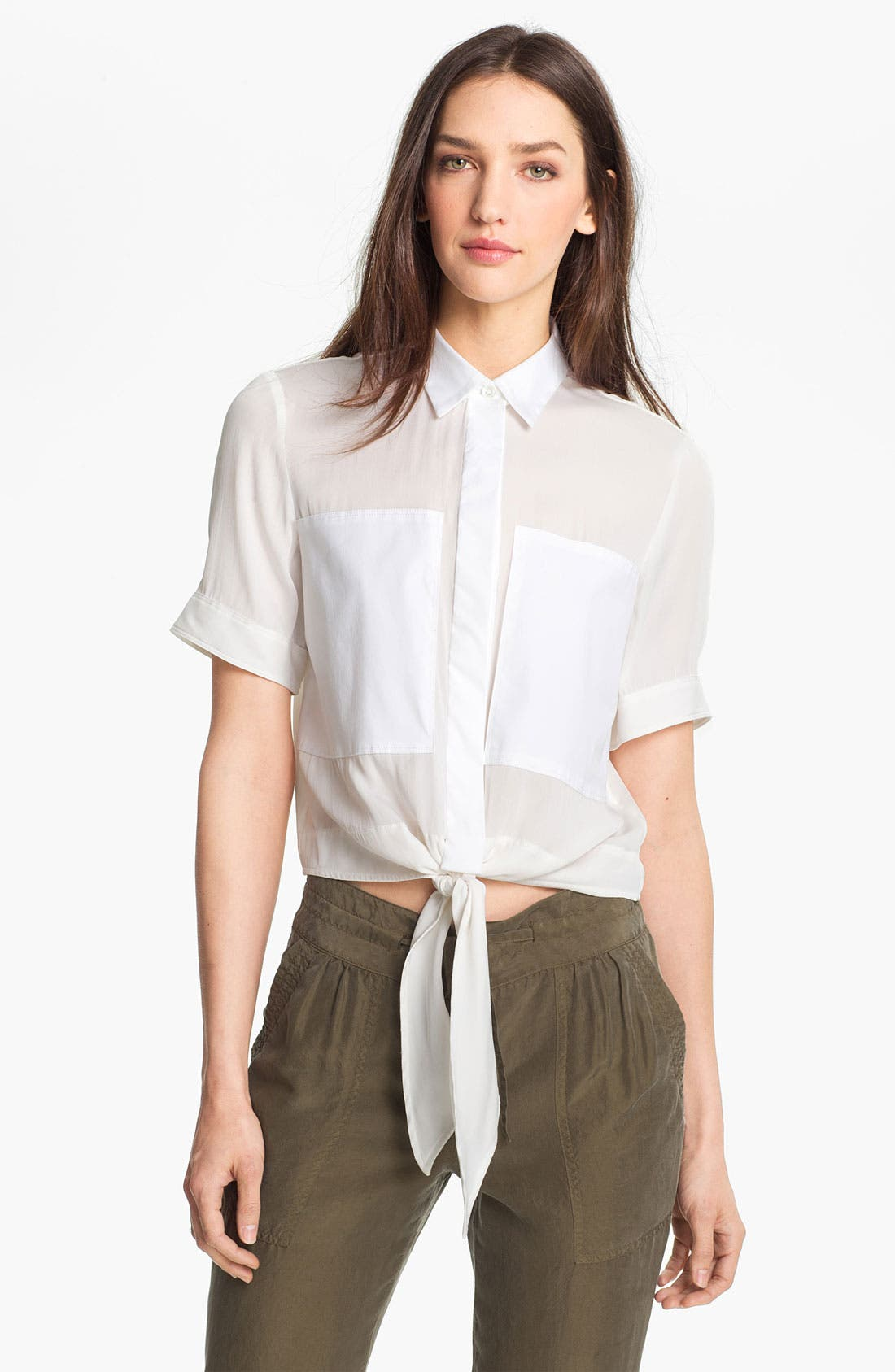 Alternate Image 1 Selected - Theory 'Ebele C.' Crop Shirt