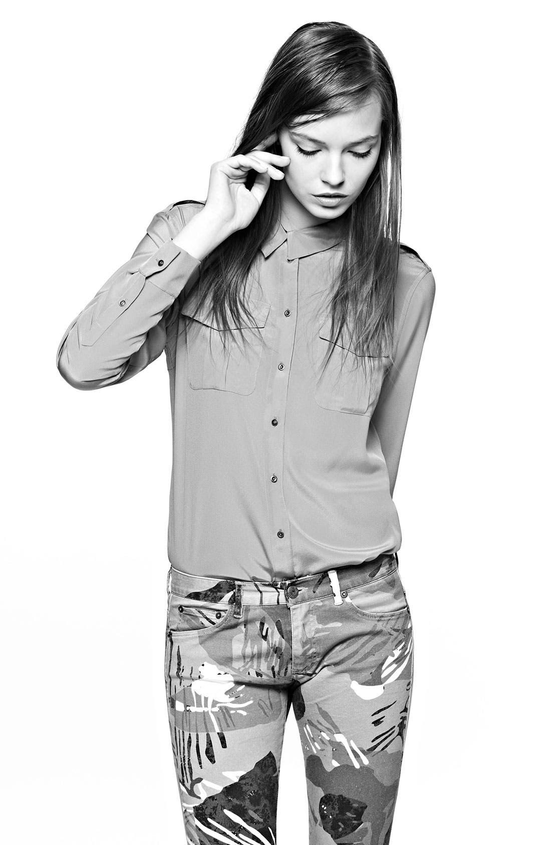 Alternate Image 5  - Edun Sandwashed Silk Shirt