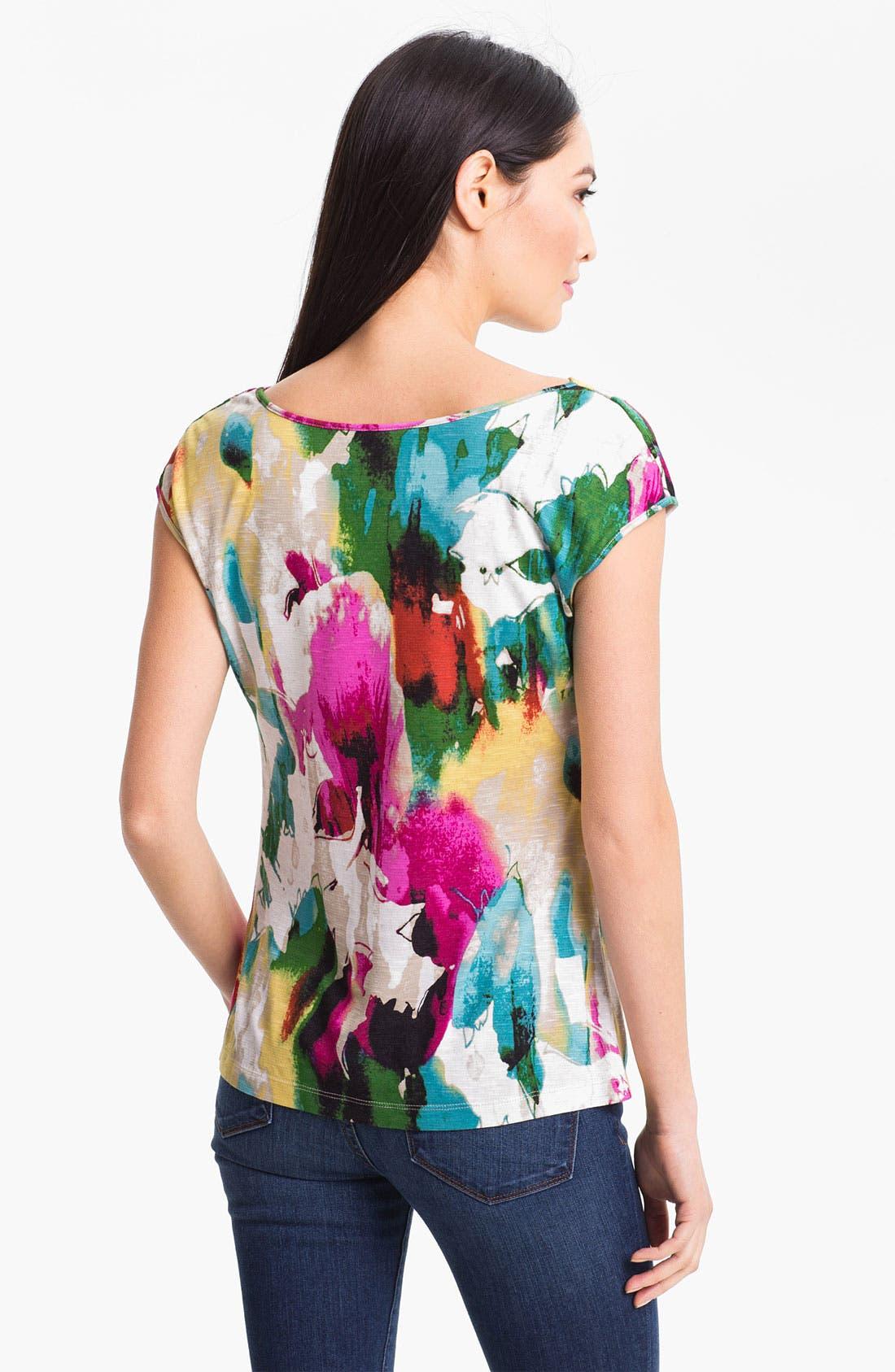 Alternate Image 2  - Nic + Zoe 'Painted Dream' Drape Neck Top