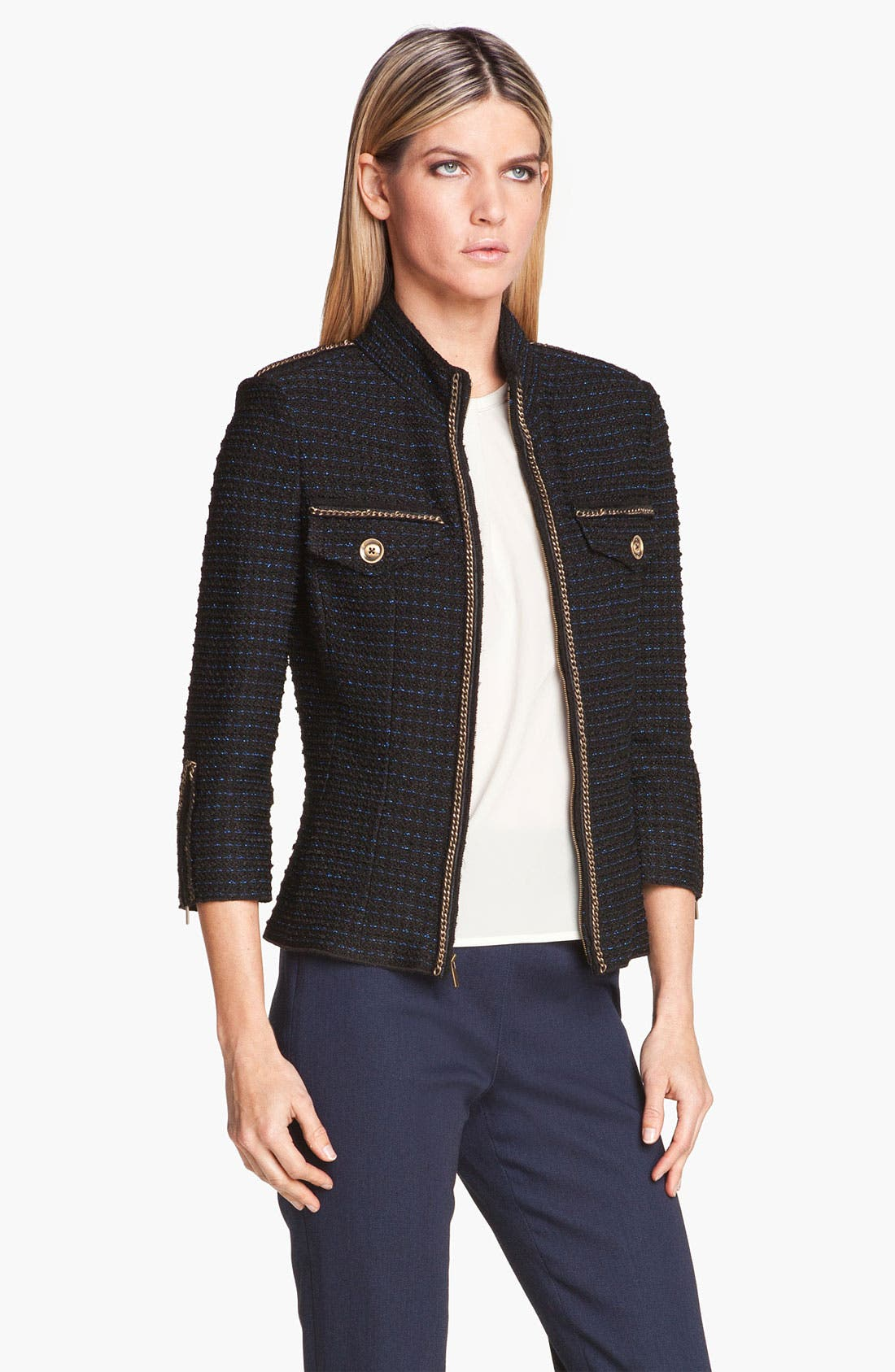Alternate Image 1 Selected - St. John Collection Military Tweed Knit Jacket