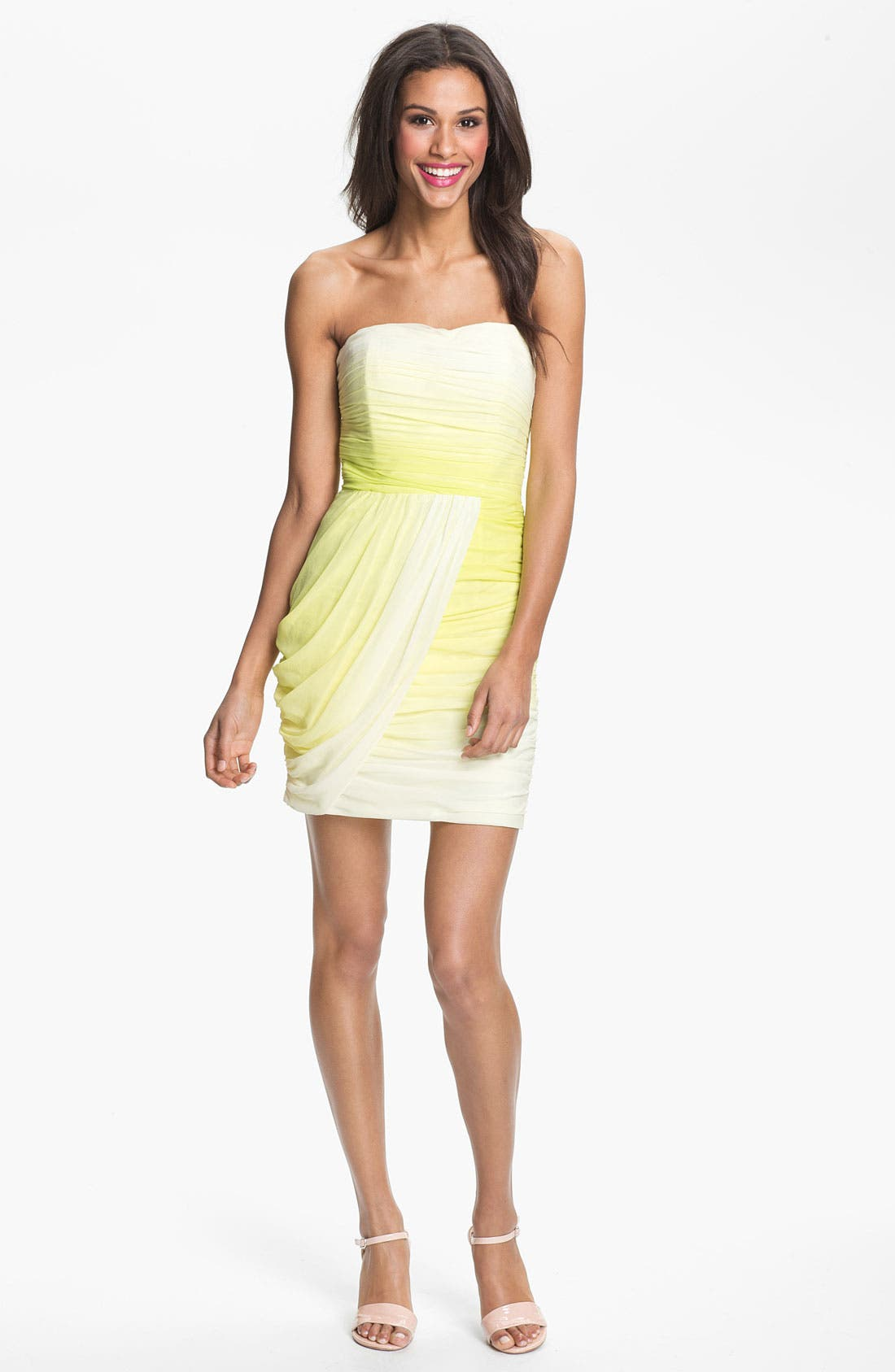 Alternate Image 1 Selected - ERIN erin fetherston Draped Silk Chiffon Sheath Dress