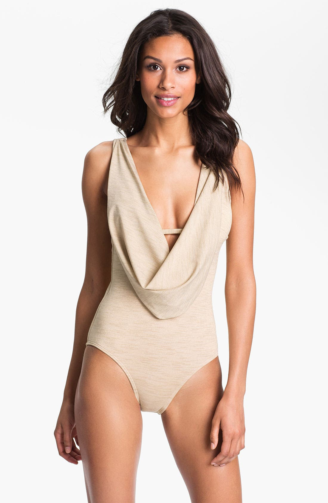 Alternate Image 1 Selected - Luxe by Lisa Vogel 'Opening Night' Maillot Swimsuit
