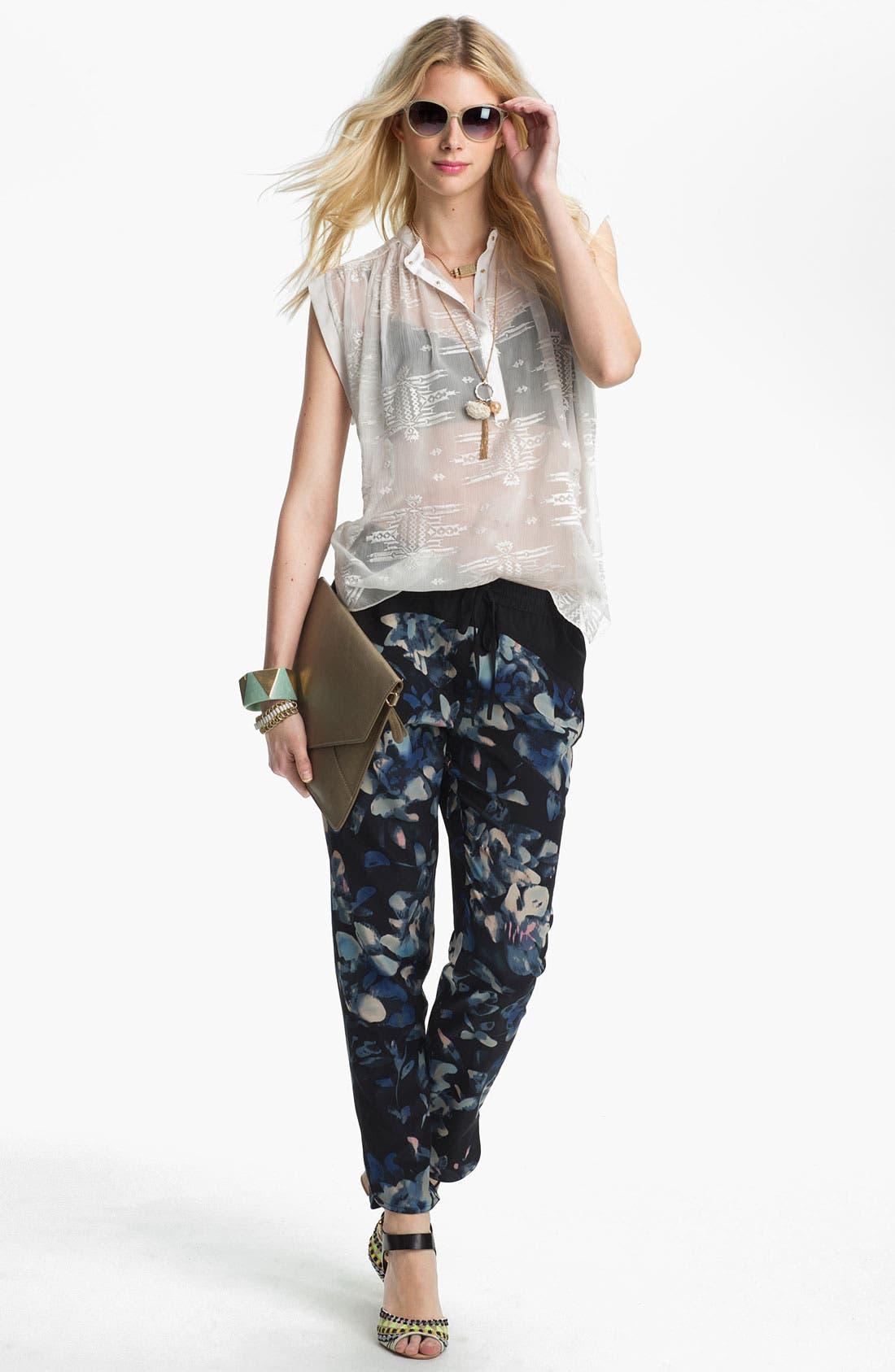 Alternate Image 2  - Jessica Simpson 'Put a Pearl on It'  Flower Pendant Necklace