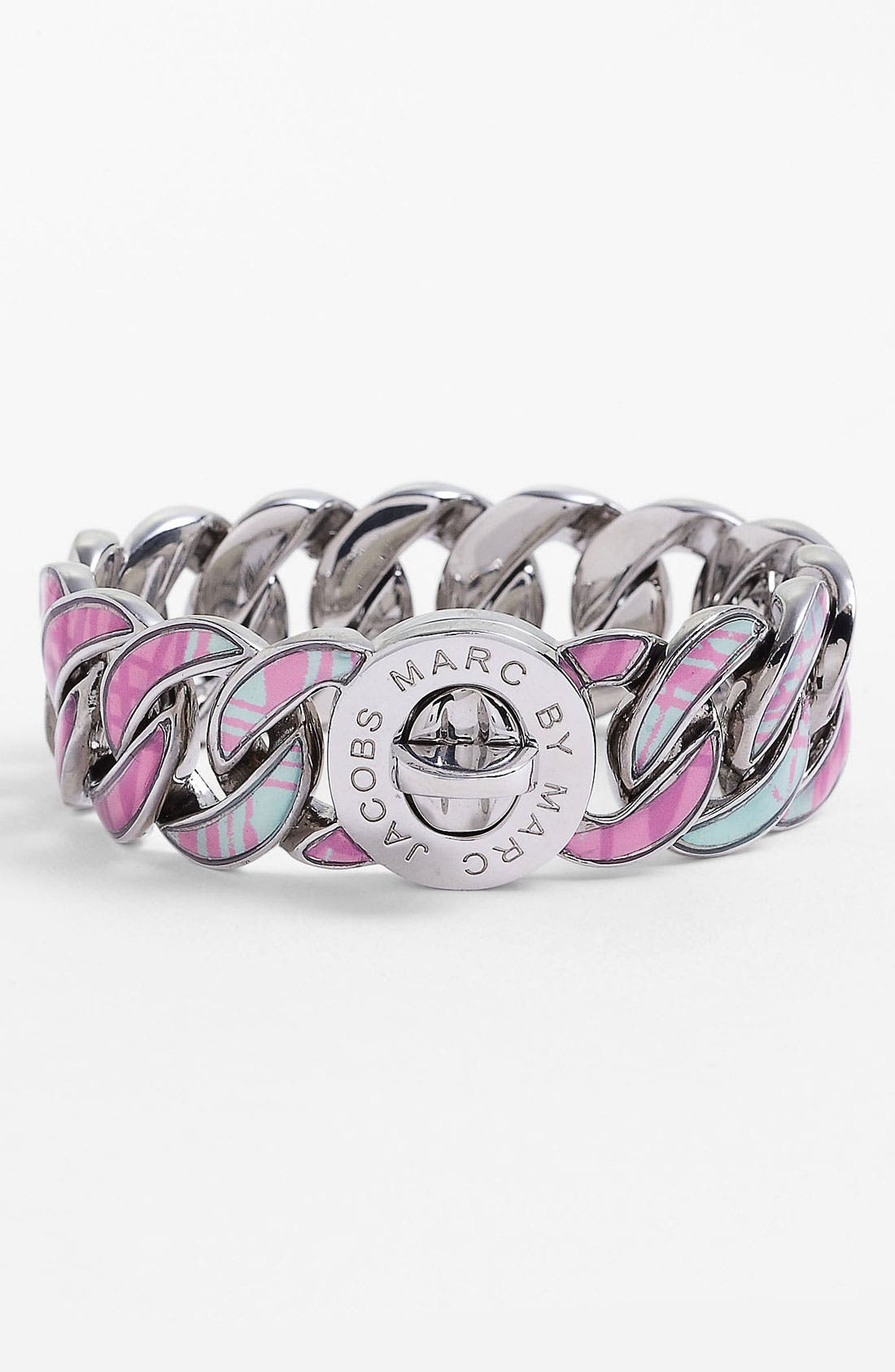 Alternate Image 1 Selected - MARC BY MARC JACOBS 'Turnlock - Katie' Print Bracelet