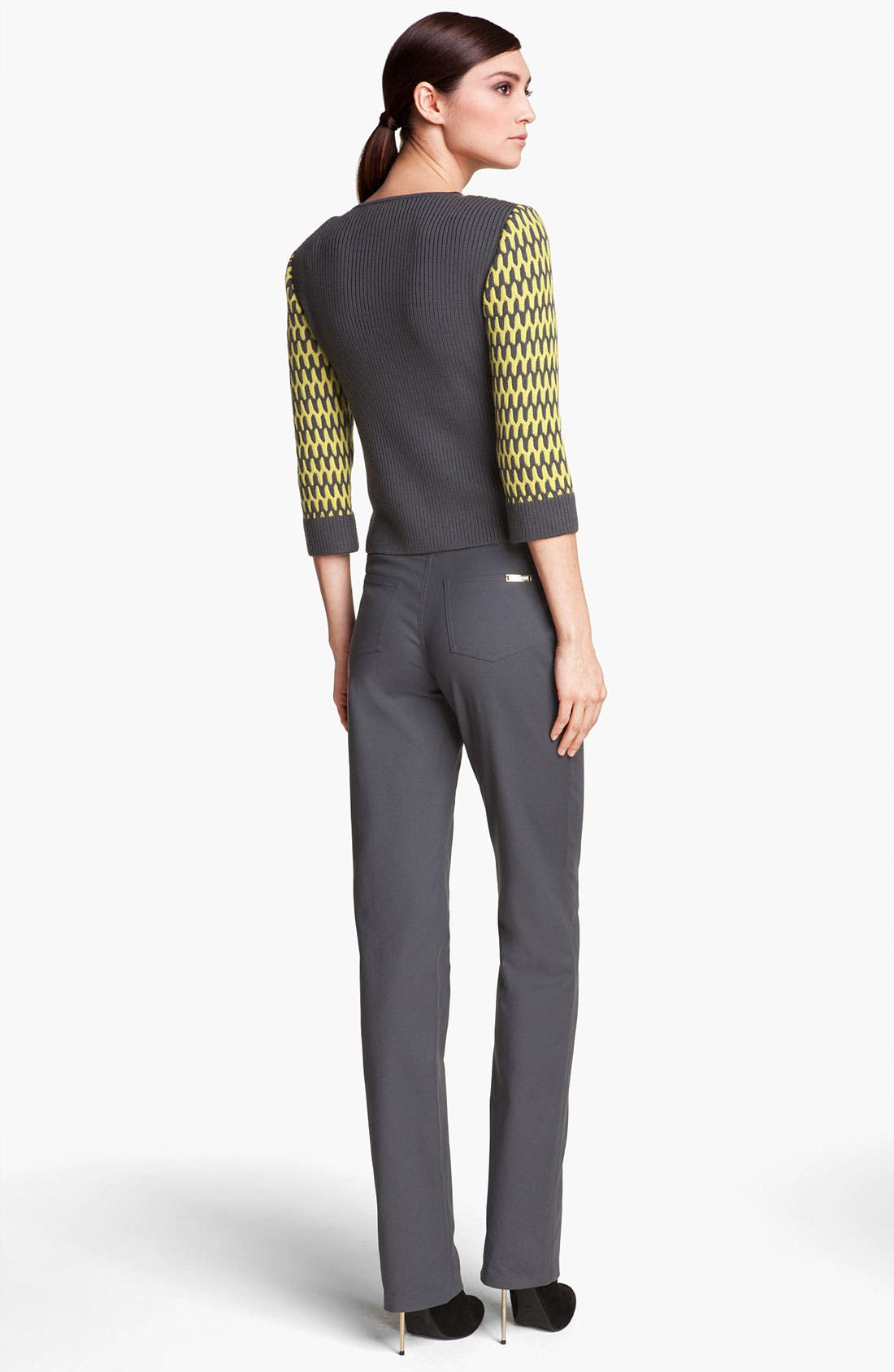 Alternate Image 3  - St. John Yellow Label 'Marie' Double Weave Stretch Cotton Pants