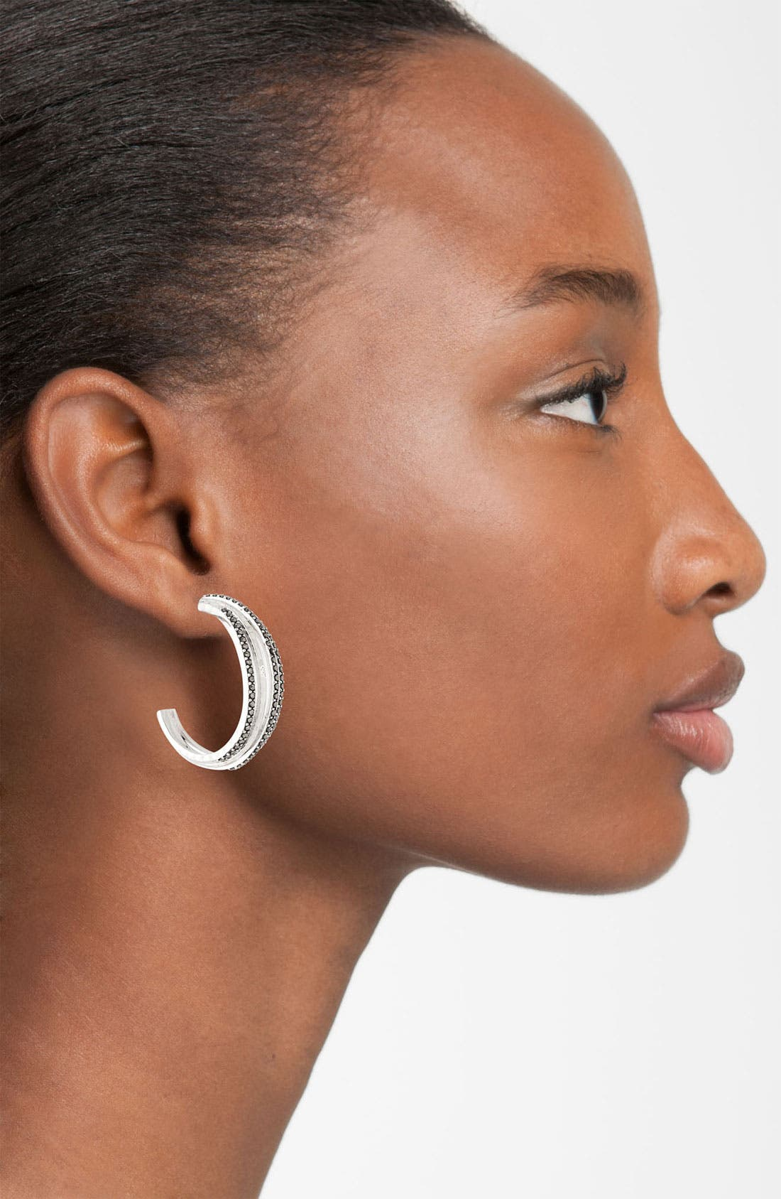 Alternate Image 2  - Judith Jack 'Fluidity' Hoop Earrings
