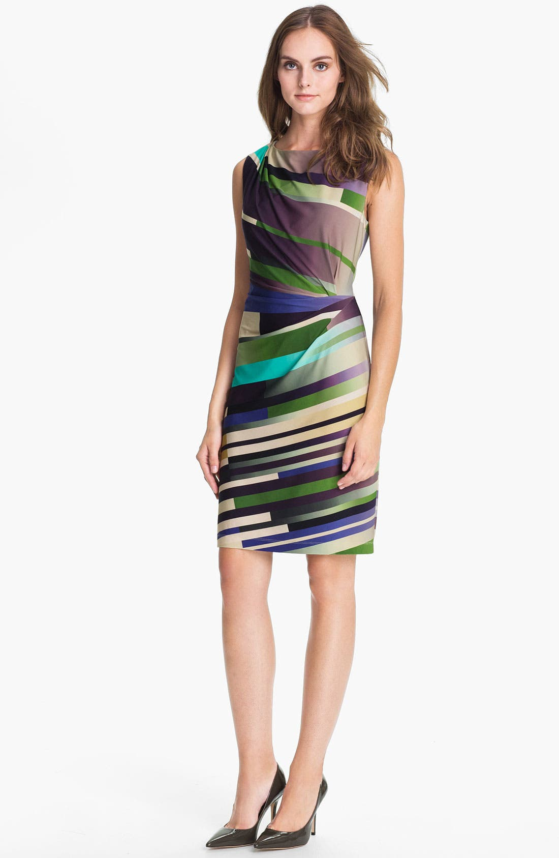 Alternate Image 1 Selected - Suzi Chin for Maggy Boutique Print Jersey Sheath Dress