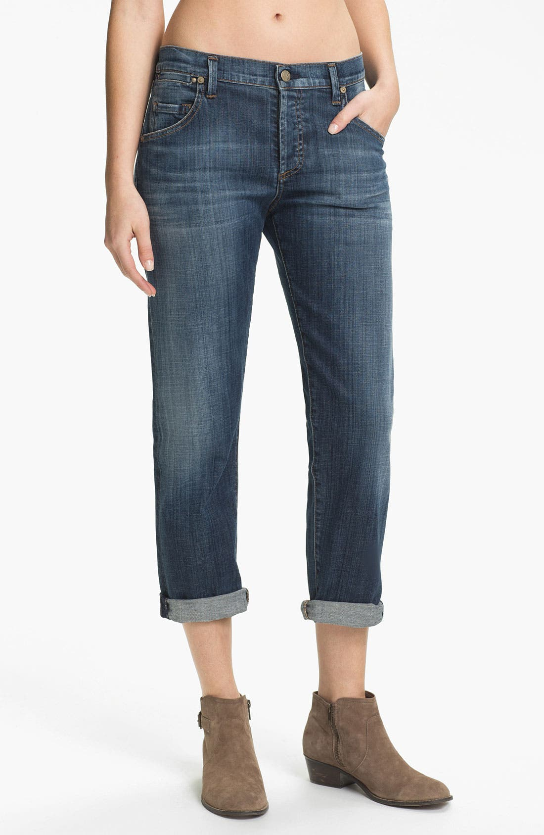 Alternate Image 1 Selected - Citizens of Humanity 'Dylan' Cropped Loose Fit Jeans (Scene)