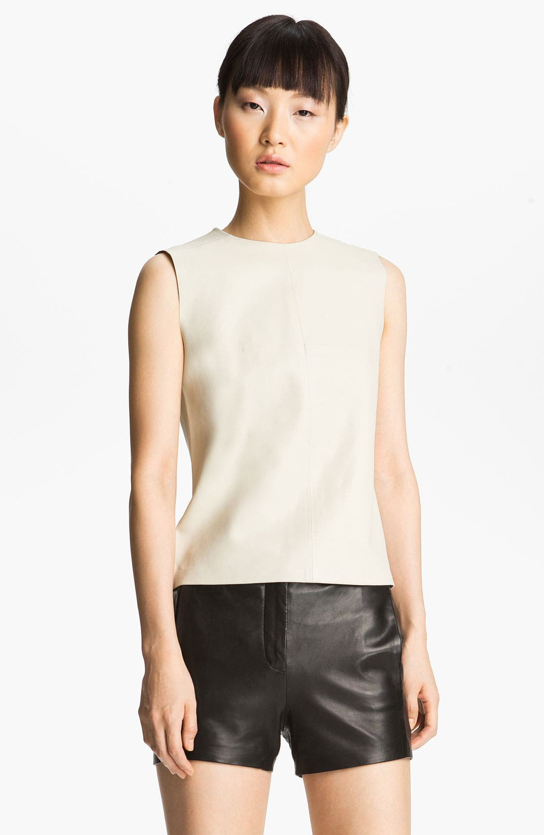Alternate Image 2  - T by Alexander Wang Leather Shell & Shorts