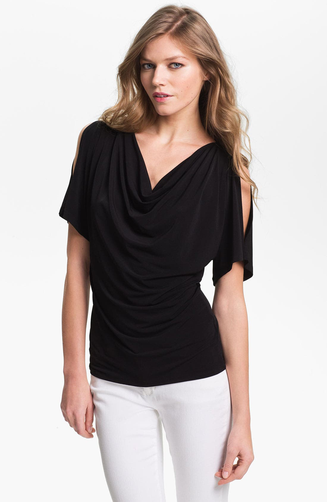 Main Image - MICHAEL Michael Kors Cold Shoulder Cowl Neck Top