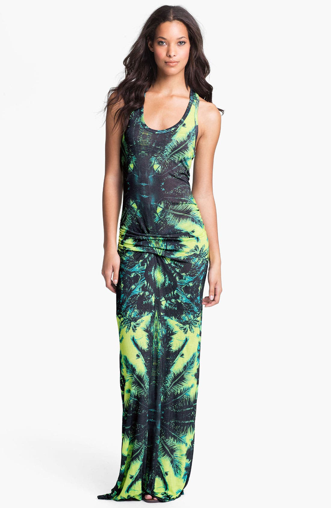 Main Image - Young, Fabulous & Broke 'Hamptons' Print Racerback Maxi Dress
