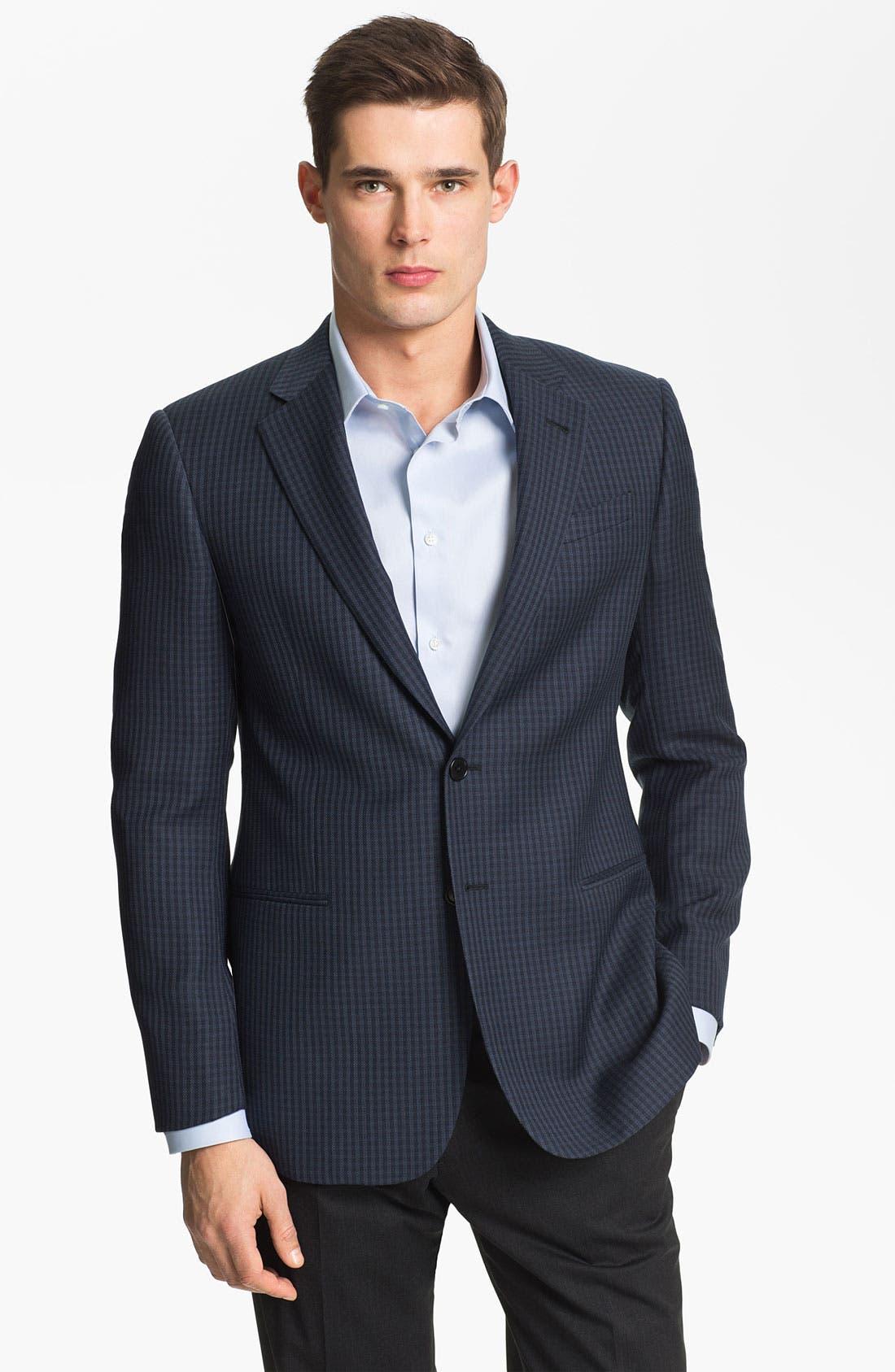 Main Image - Armani Collezioni 'Giorgio' Trim Fit Wool Sportcoat