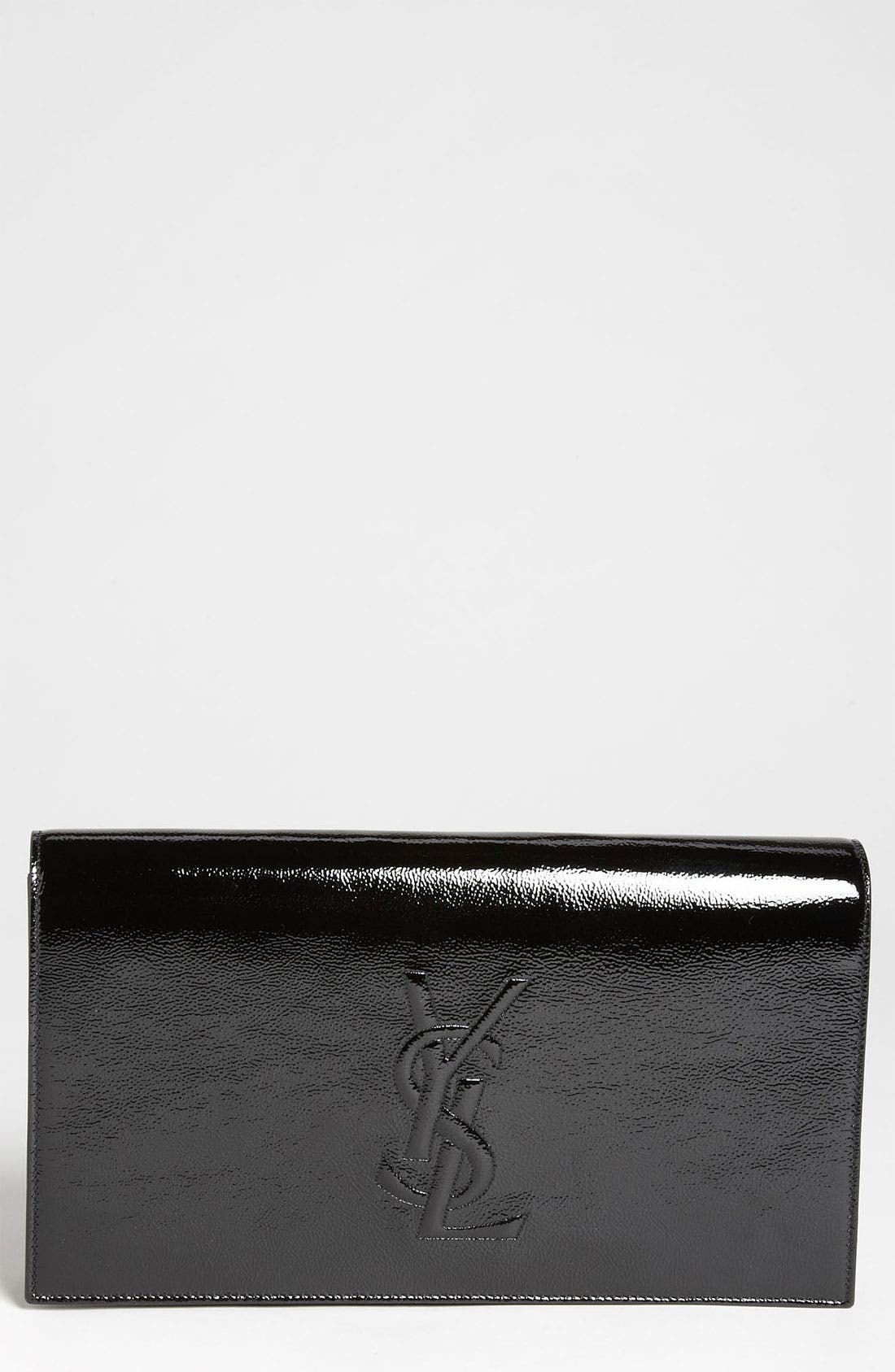 Main Image - Saint Laurent 'Belle de Jour' Patent Leather Clutch
