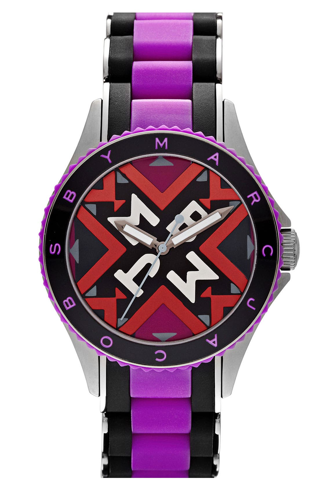 Alternate Image 1 Selected - MARC BY MARC JACOBS 'Rock' Silicone Bracelet Watch