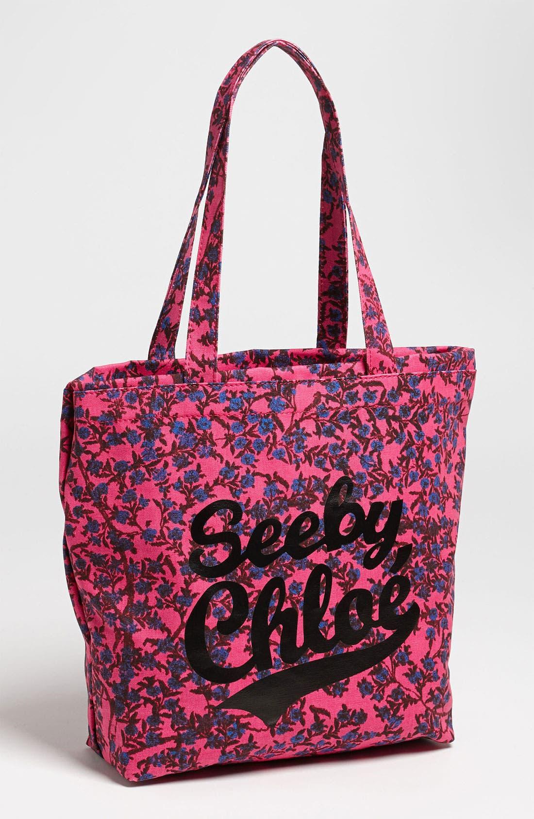 Main Image - See by Chloé 'Blossom - Medium' Canvas Shopper