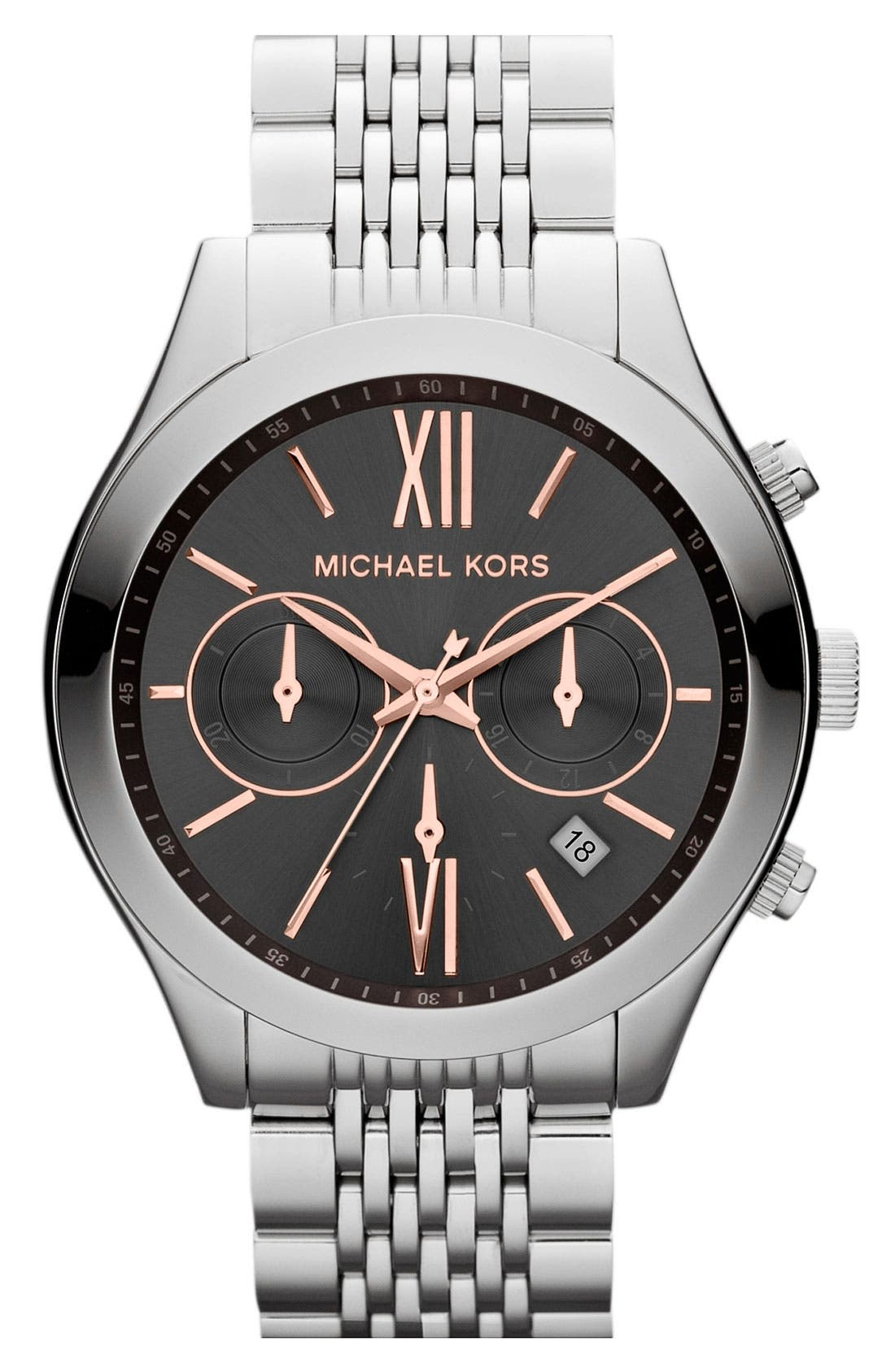 Main Image - Michael Kors 'Brookton' Chronograph Bracelet Watch, 42mm