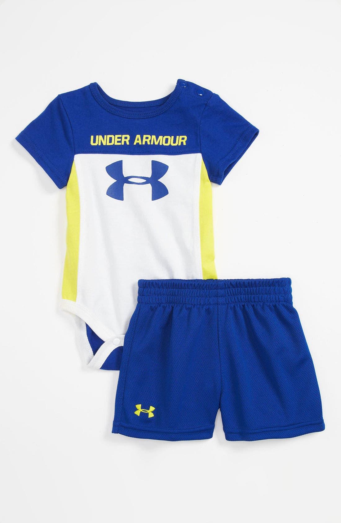 Main Image - Under Armour Bodysuit & Shorts (Infant)