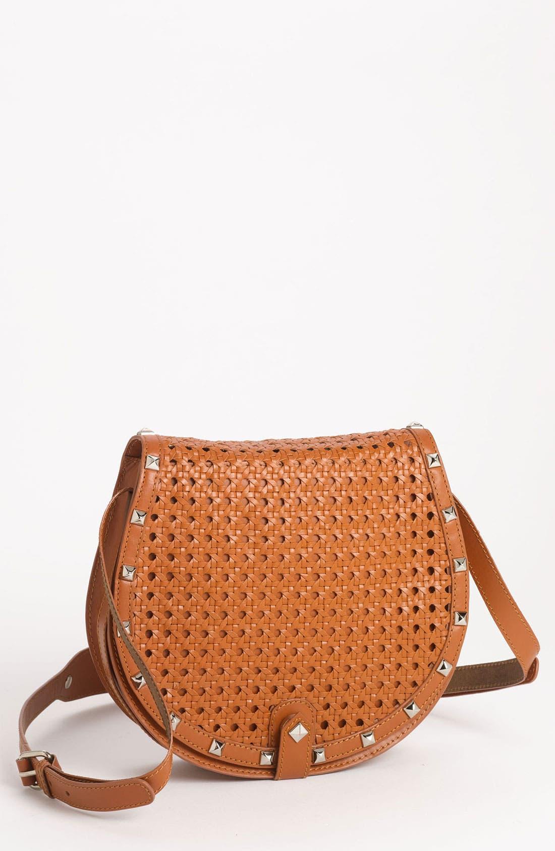 Alternate Image 1 Selected - Rebecca Minkoff 'Skylar - Wicker Woven' Leather Crossbody Bag
