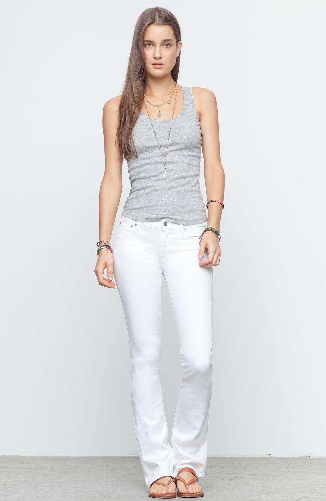 'Emmanuelle' Slim Bootcut Jeans,                             Alternate thumbnail 2, color,                             Santorini