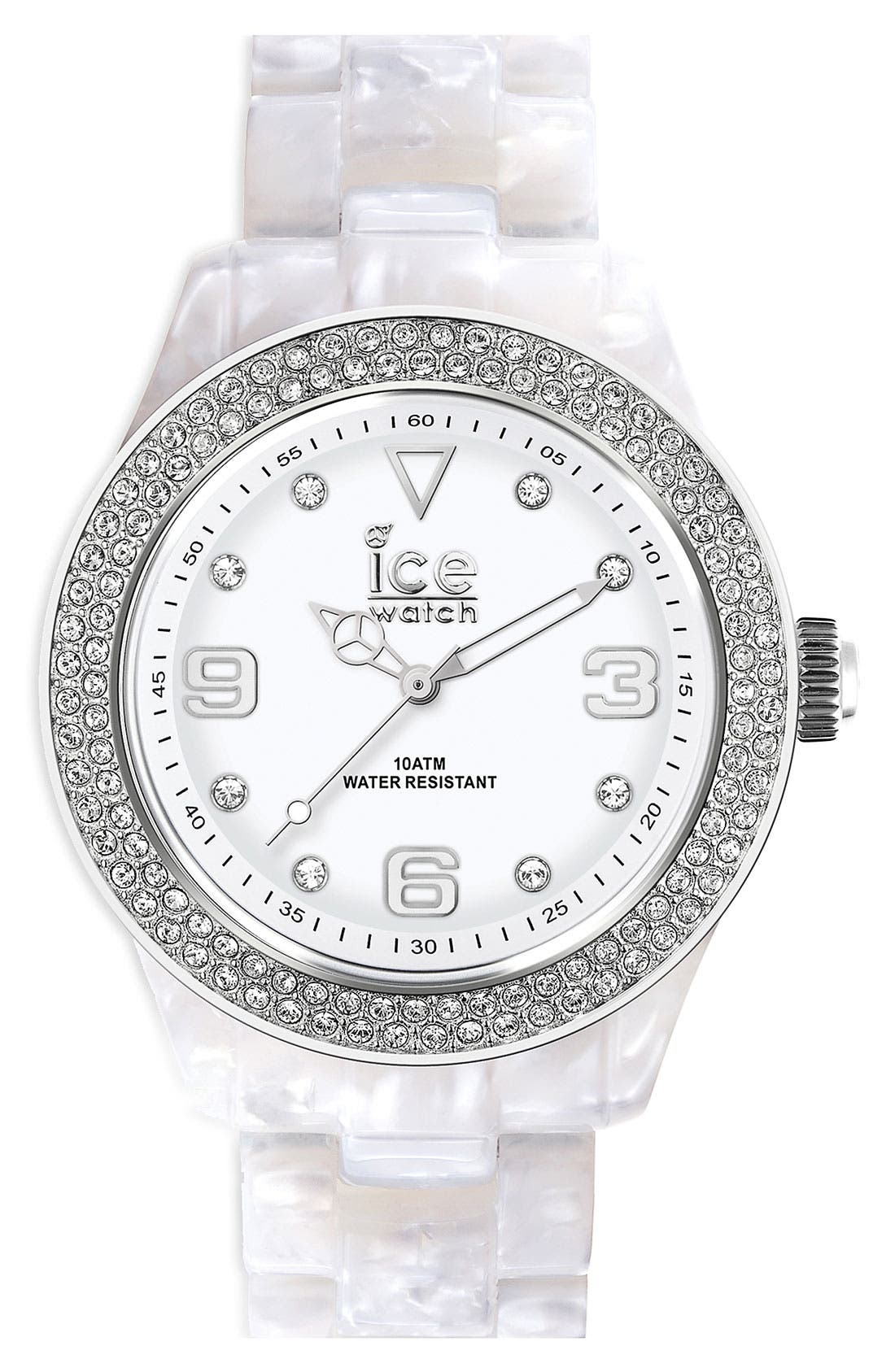 Alternate Image 1 Selected - ICE Watch 'Elegant' Crystal Bezel Watch, 43mm