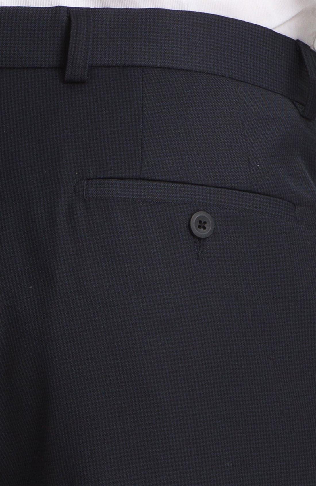 Alternate Image 3  - Linea Naturale 'Fancy' Flat Front Microfiber Trousers