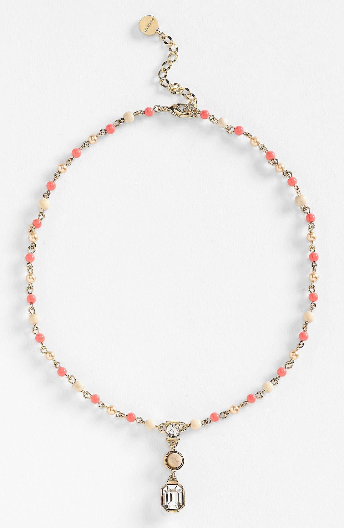 Main Image - Givenchy 'Lark' Crystal & Bead Pendant Necklace