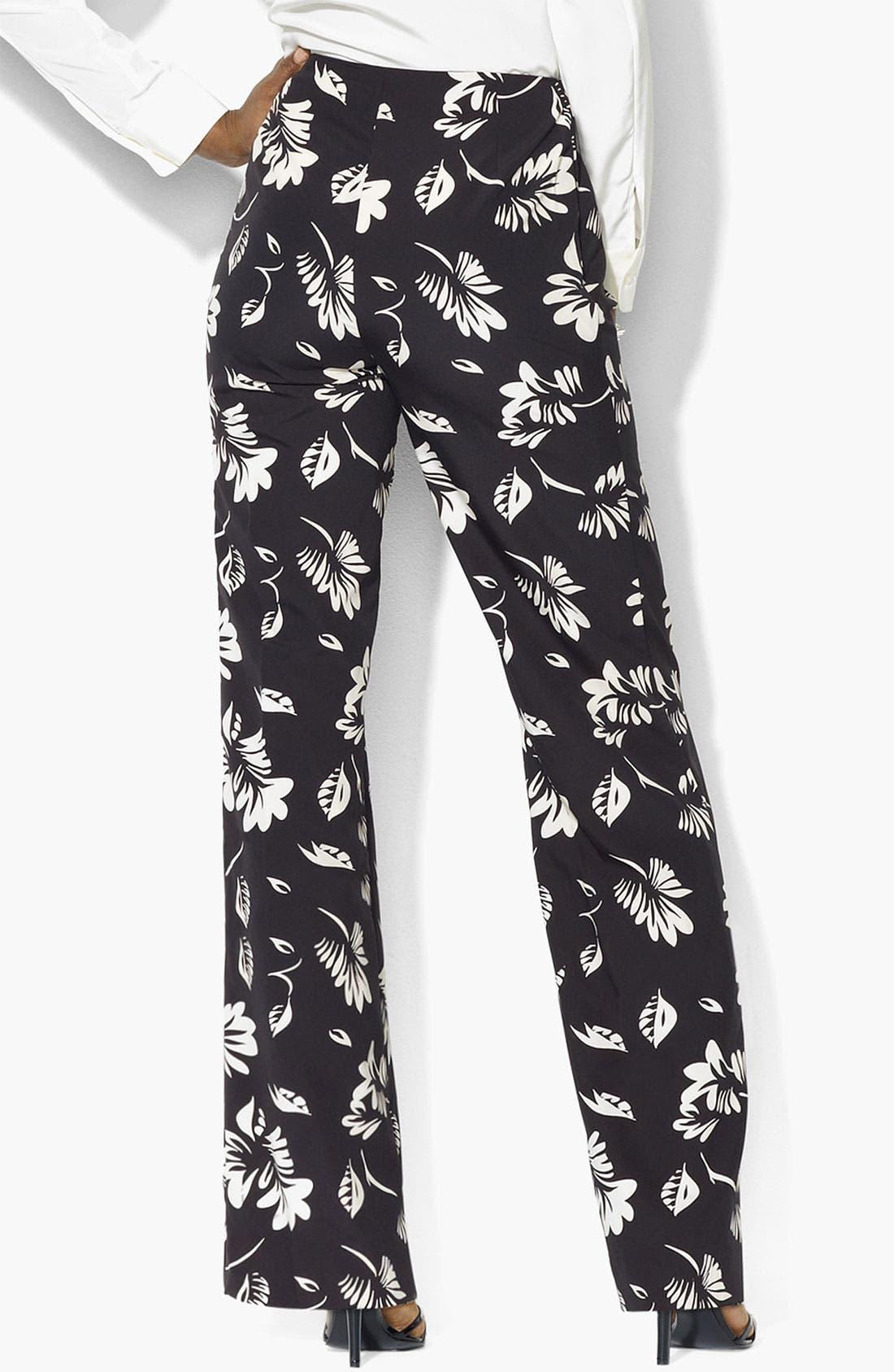 Alternate Image 2  - Lauren Ralph Lauren Floral Print Pants