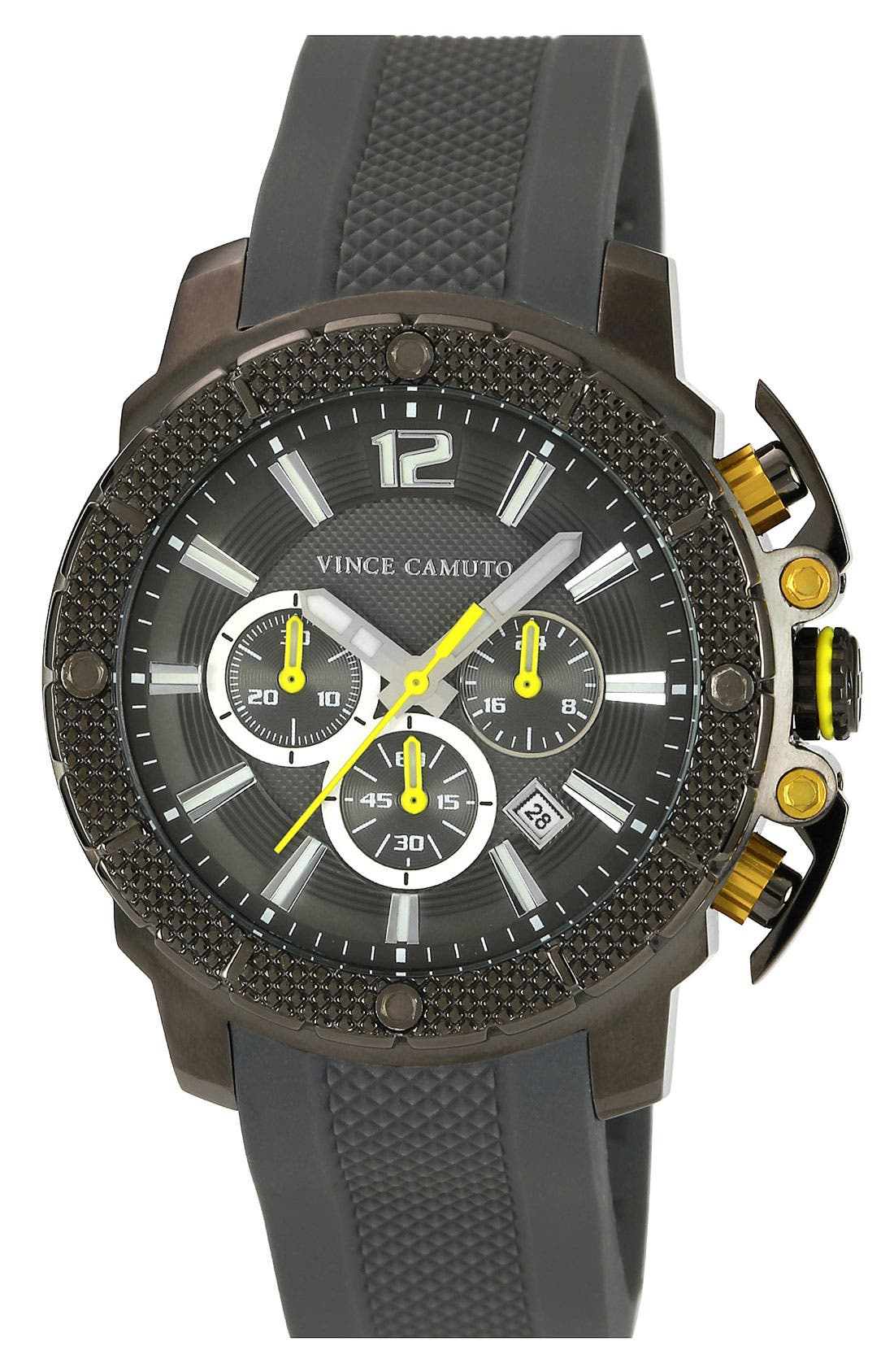 Alternate Image 1 Selected - Vince Camuto 'Striker' Chronograph Silicone Strap Watch, 45mm