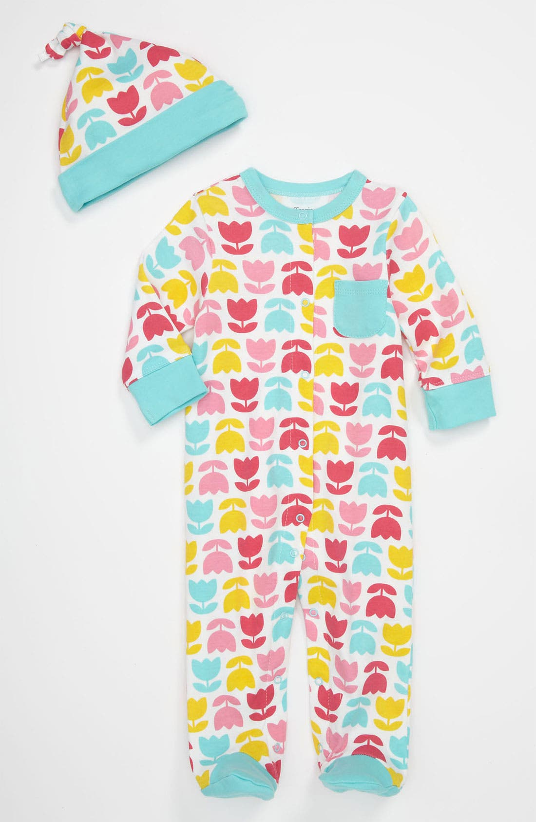 Main Image - Offspring 'Tulip' Footie & Hat (Baby)