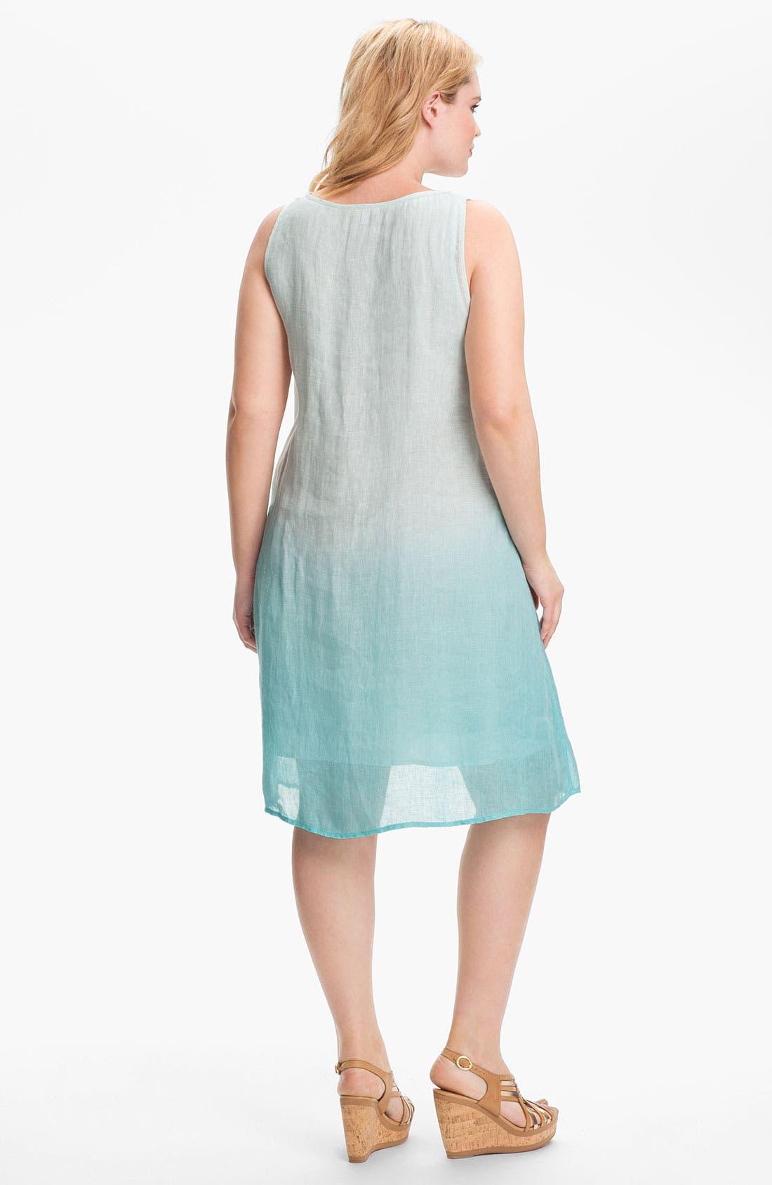 Alternate Image 2  - Eileen Fisher Linen A-Line Dress (Plus)