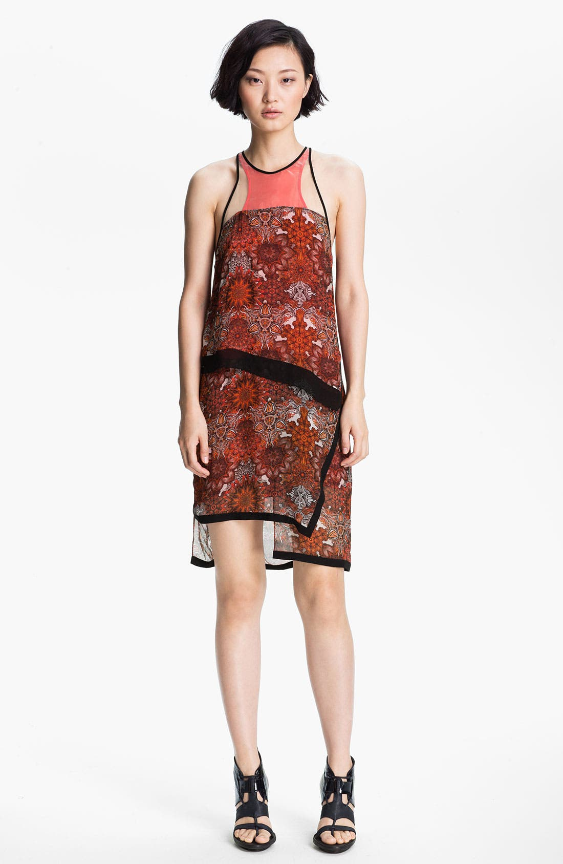 Alternate Image 1 Selected - Helmut Lang 'Mandala' Print Layered Dress