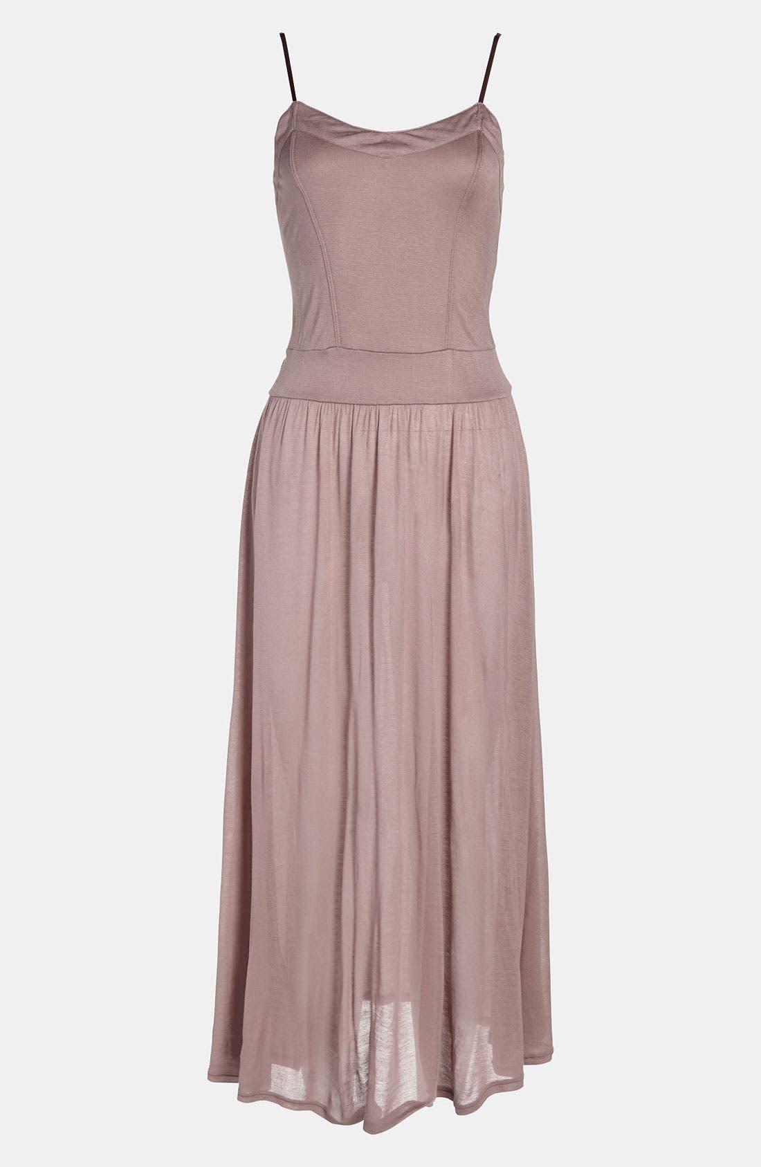 Main Image - Tildon Sheer Knit Slip Dress